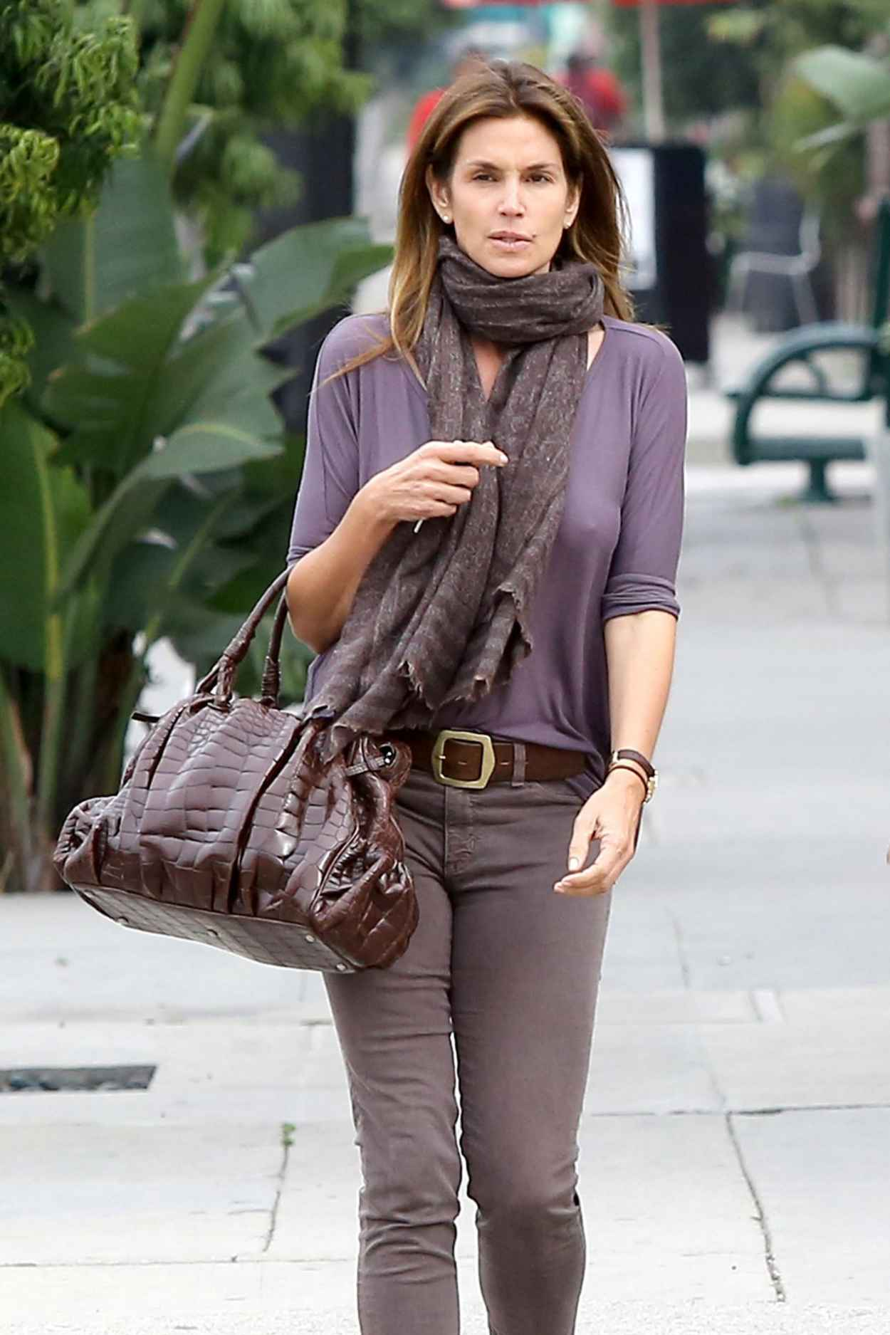 Cindy Crawford Street Style - Out in Beverly Hills, February 2015-2