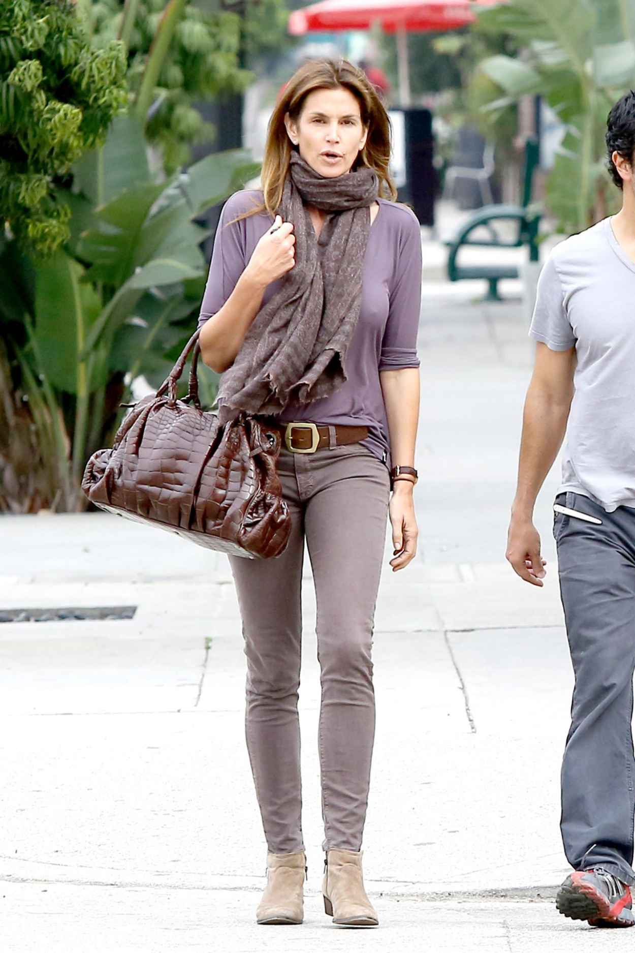 Cindy Crawford Street Style - Out in Beverly Hills, February 2015-3