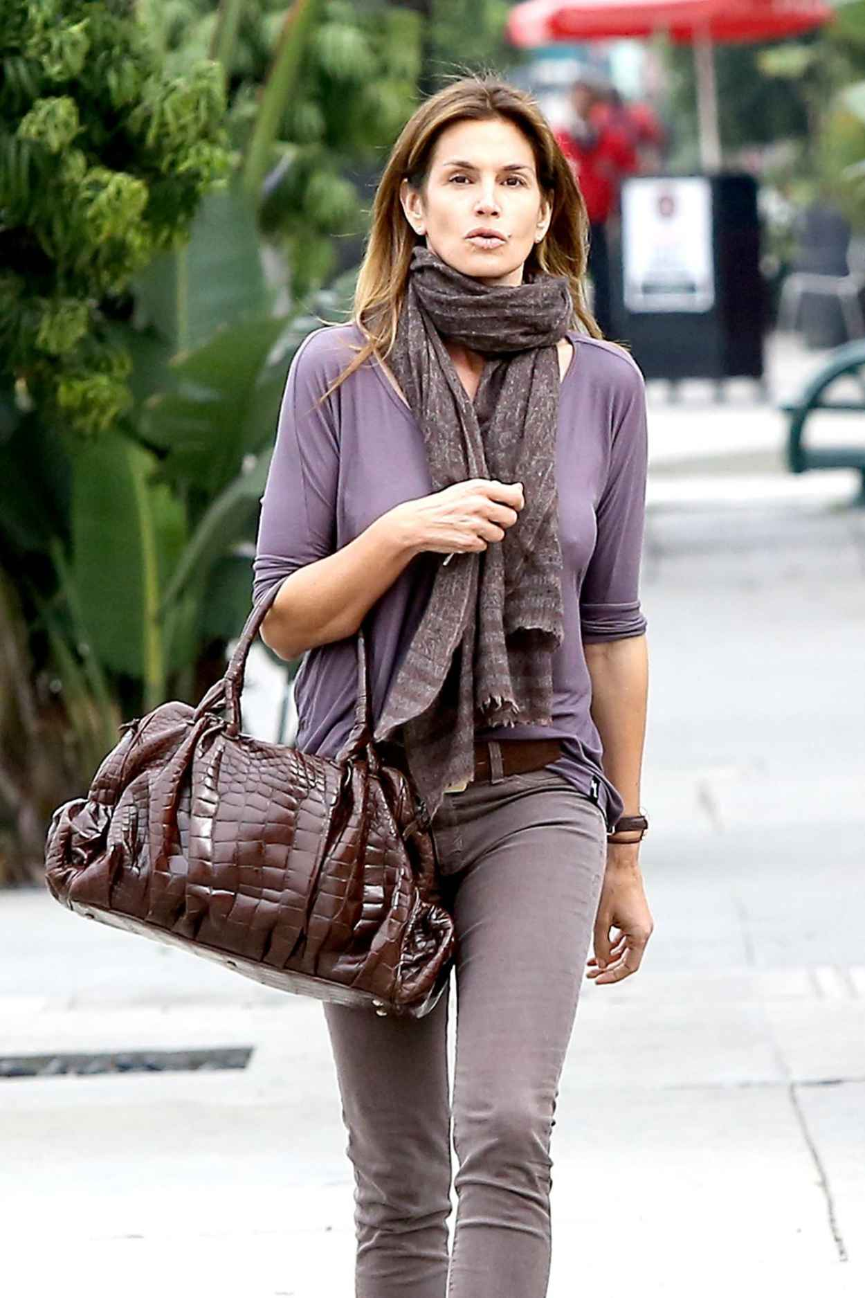 Cindy Crawford Street Style - Out in Beverly Hills, February 2015-5