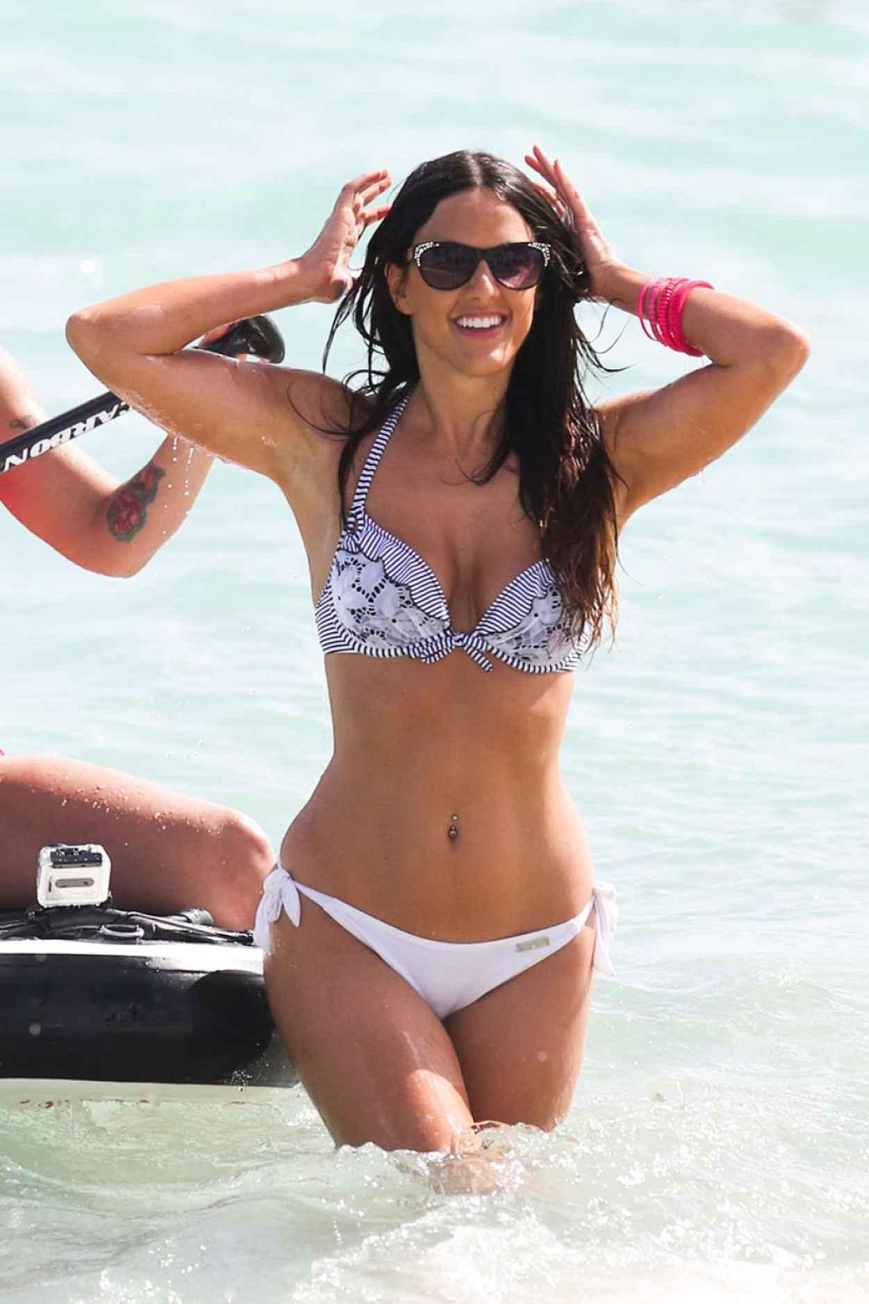 Claudia Romani Hot in Bikini - Showing off her Toned Body at a Beach in Miami - February 2015-1
