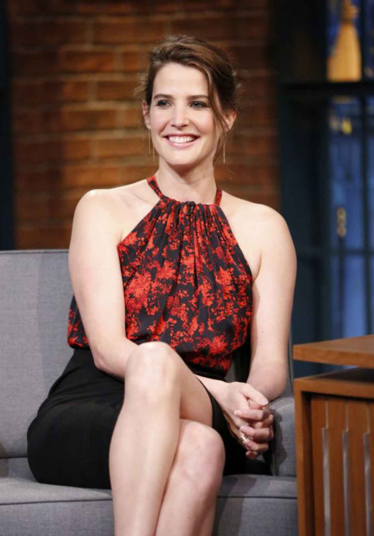 Cobie Smulders at Late Night With Seth Meyers in New York, April 2015-1