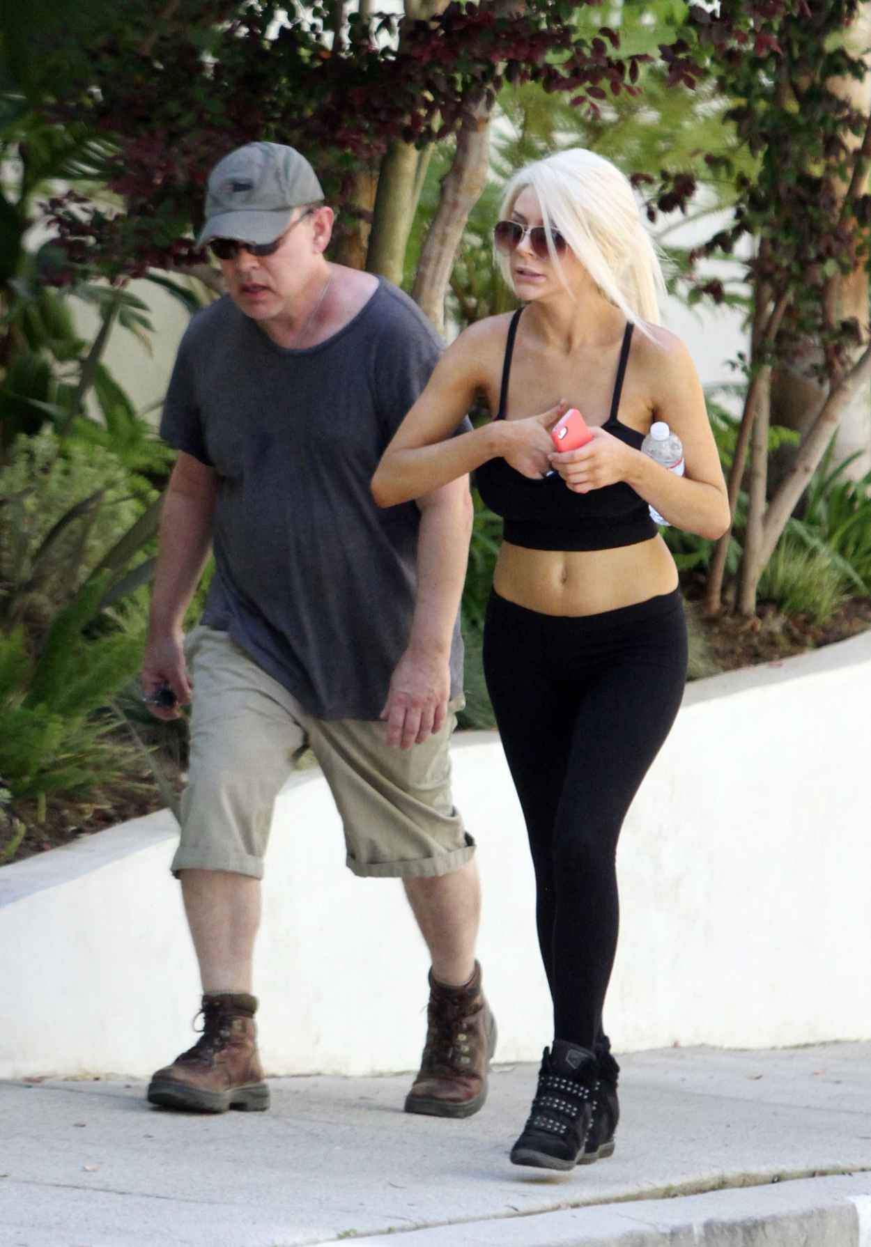 Courtney Stodden With Her Ex-Husband Doug Hutchison - Hollywood Hills-1