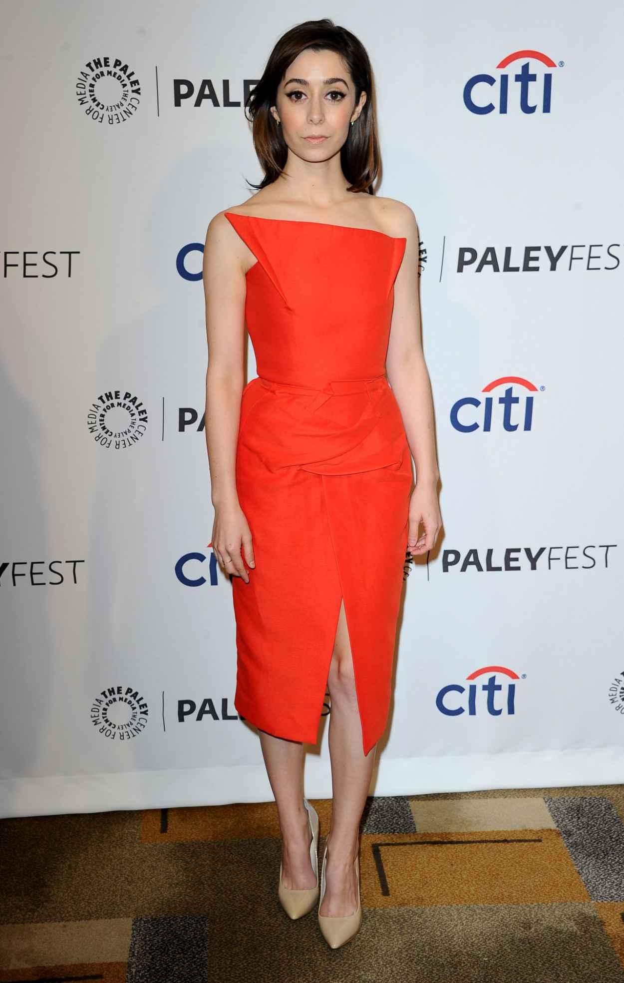 Cristin Milioti Wearing Roland Mouret -Verdink- Orange Dress - PaleyFest 2015-4