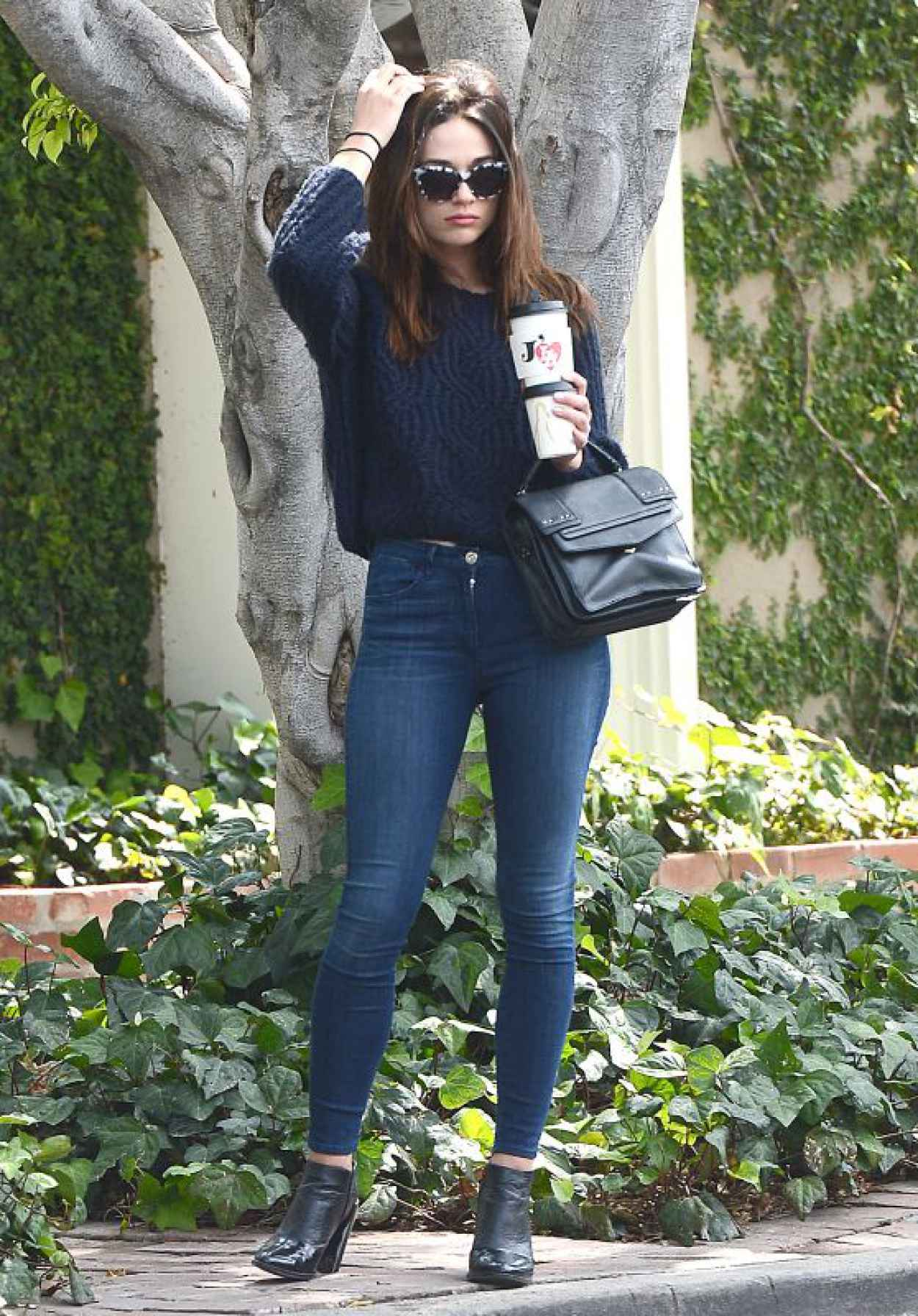 Crystal Reed in Tight Jeans - Leaving Cafe Alfred, June 2015-1