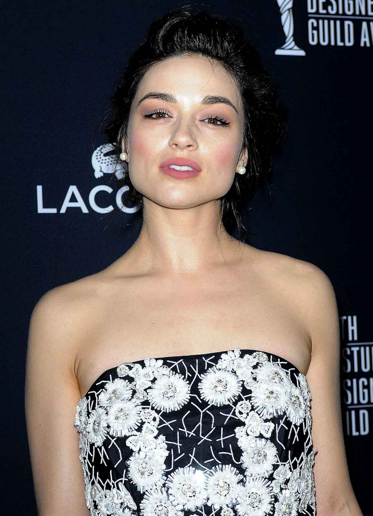 Crystal Reed Wearing Naeem Khan Gown - 2015 Costume Designers Guild Awards in Beverly Hills-1
