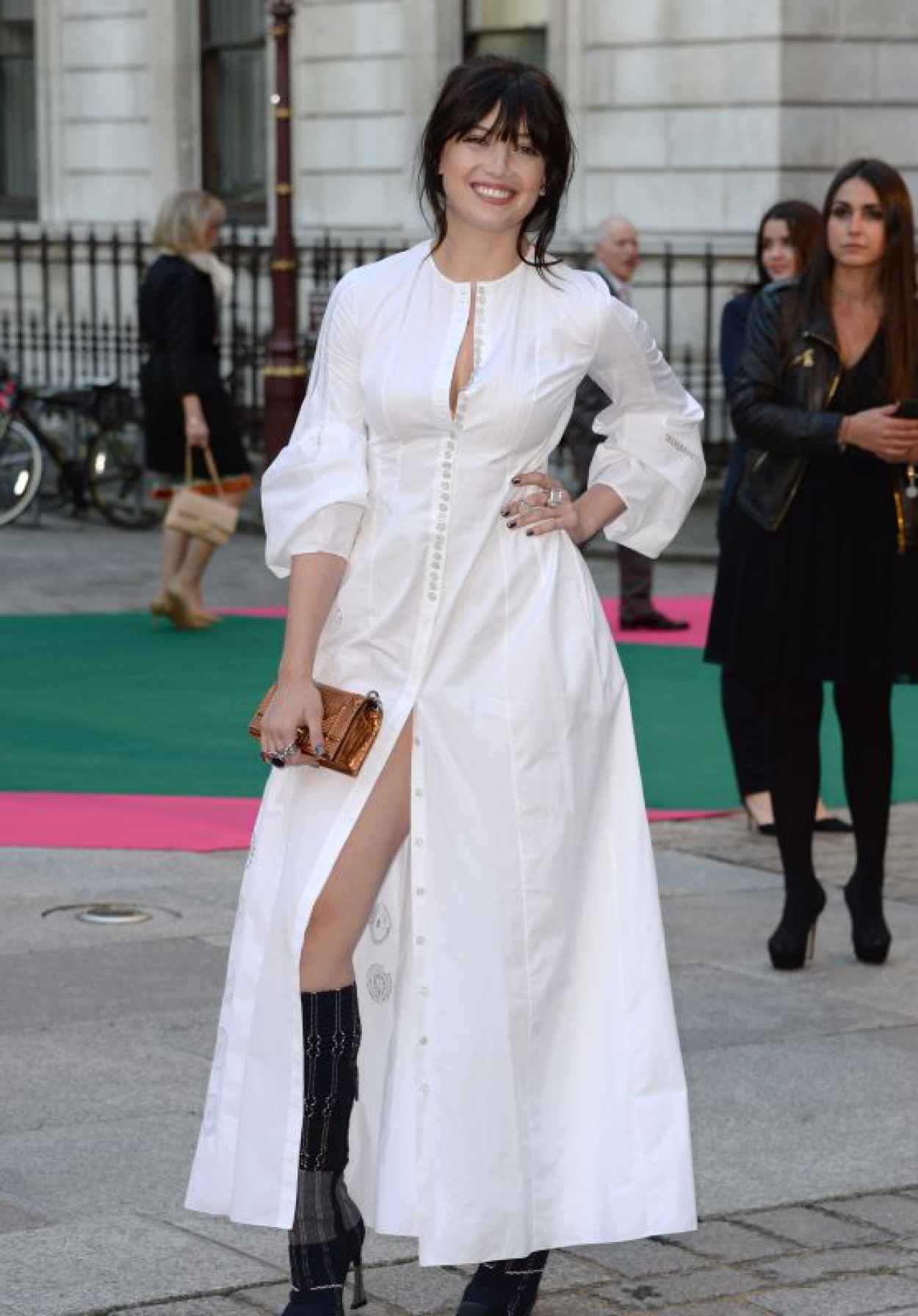 Daisy Lowe - Royal Academy of Arts Summer Exhibtion in London, June 2015-1