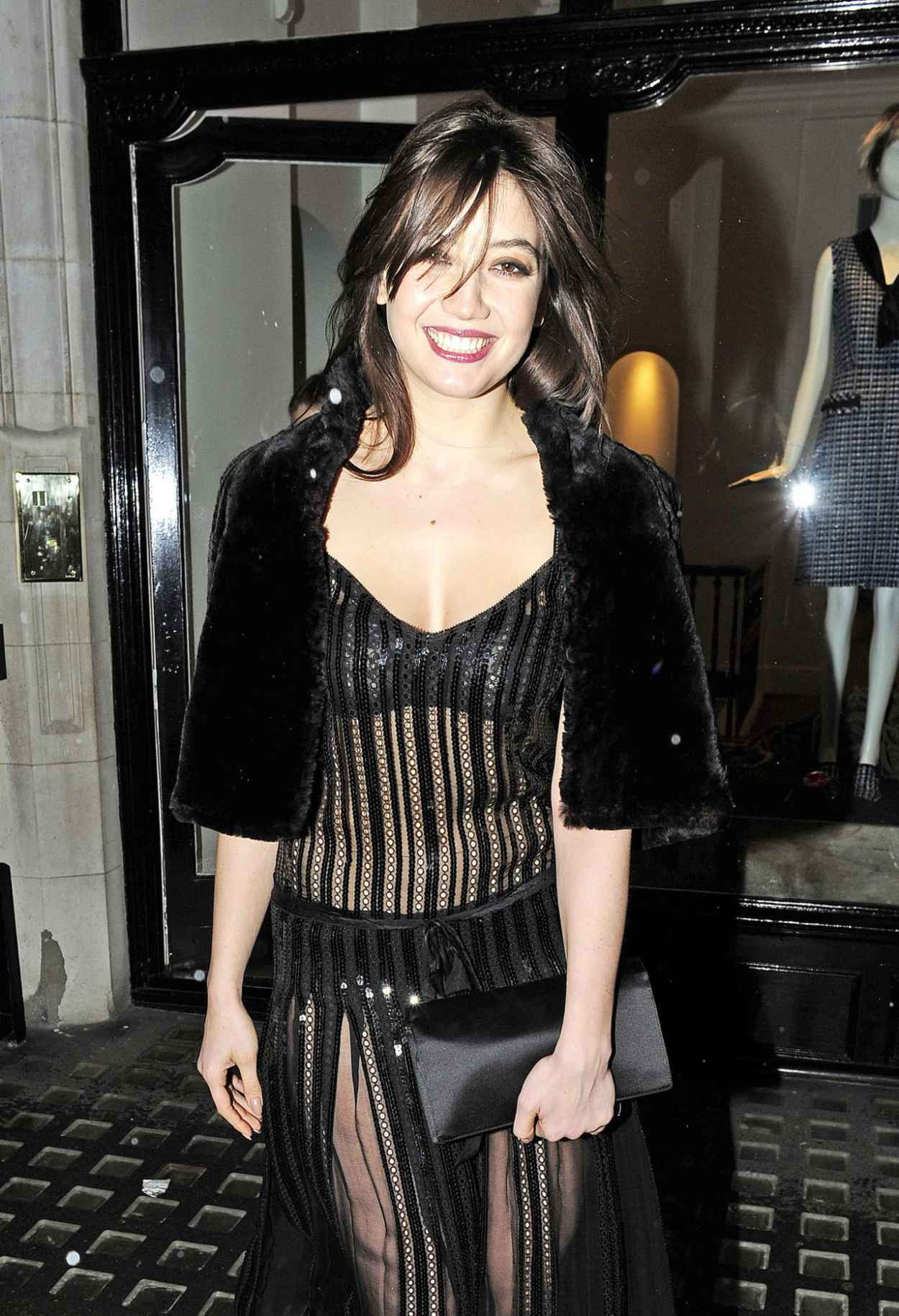 Daisy Lowe Wearing Marc Jacobs Dress - Leaving the Marc Jacobs Store in London, February 2015-1