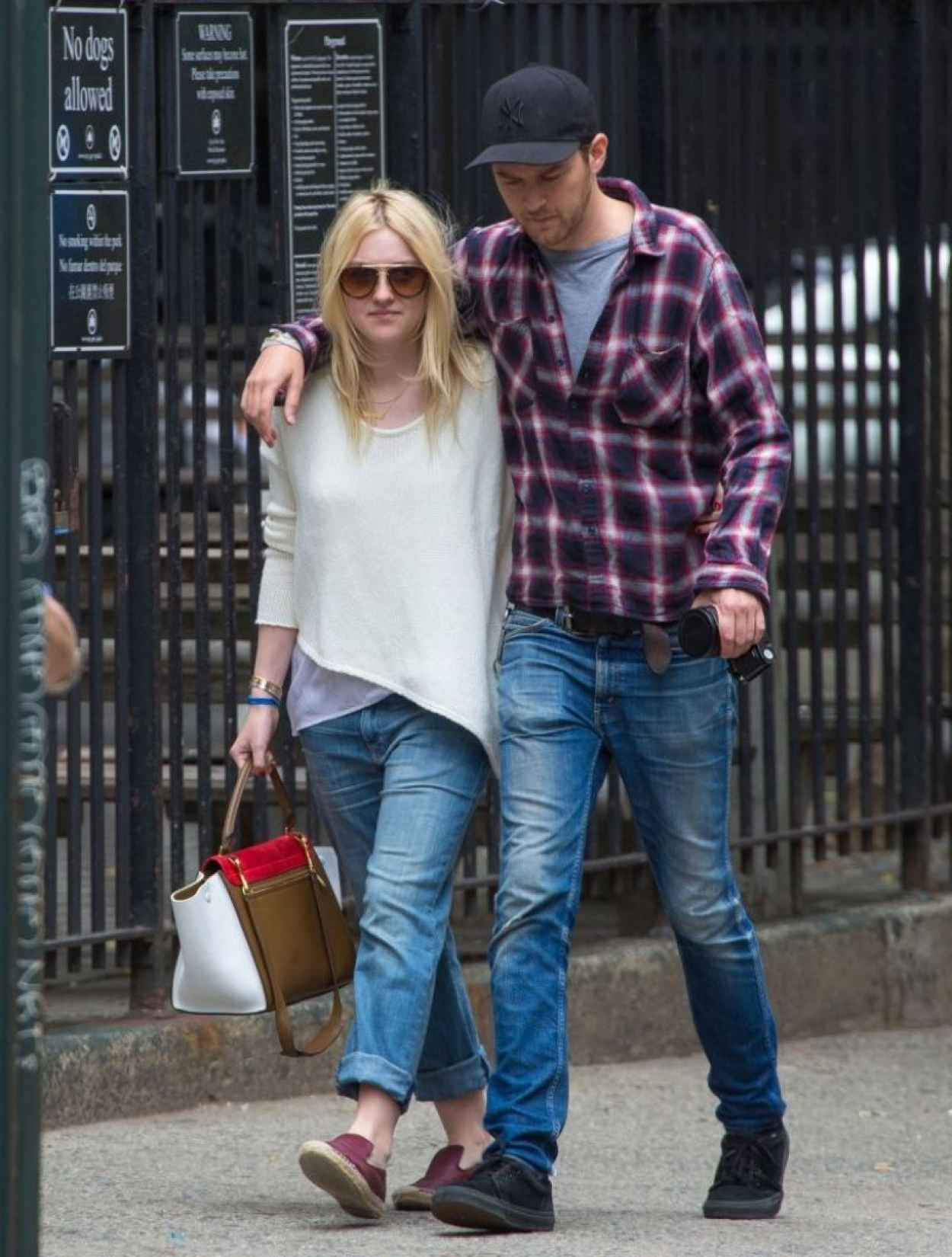 Dakota Fanning and Boyfriend Out in NYC - June 2015-1