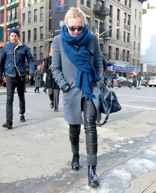 Dakota Fanning Winter Style - New York City February 2015-1
