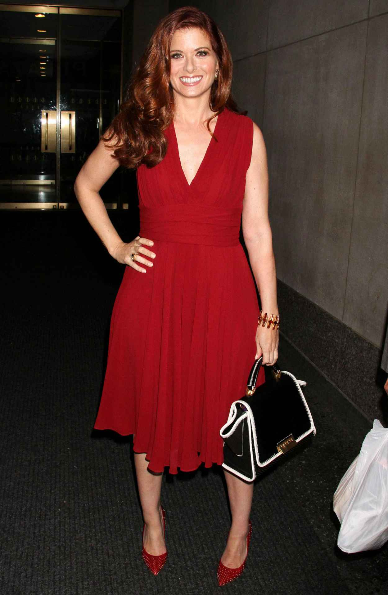 Debra Messing Street Style - Leaving Today Show-1