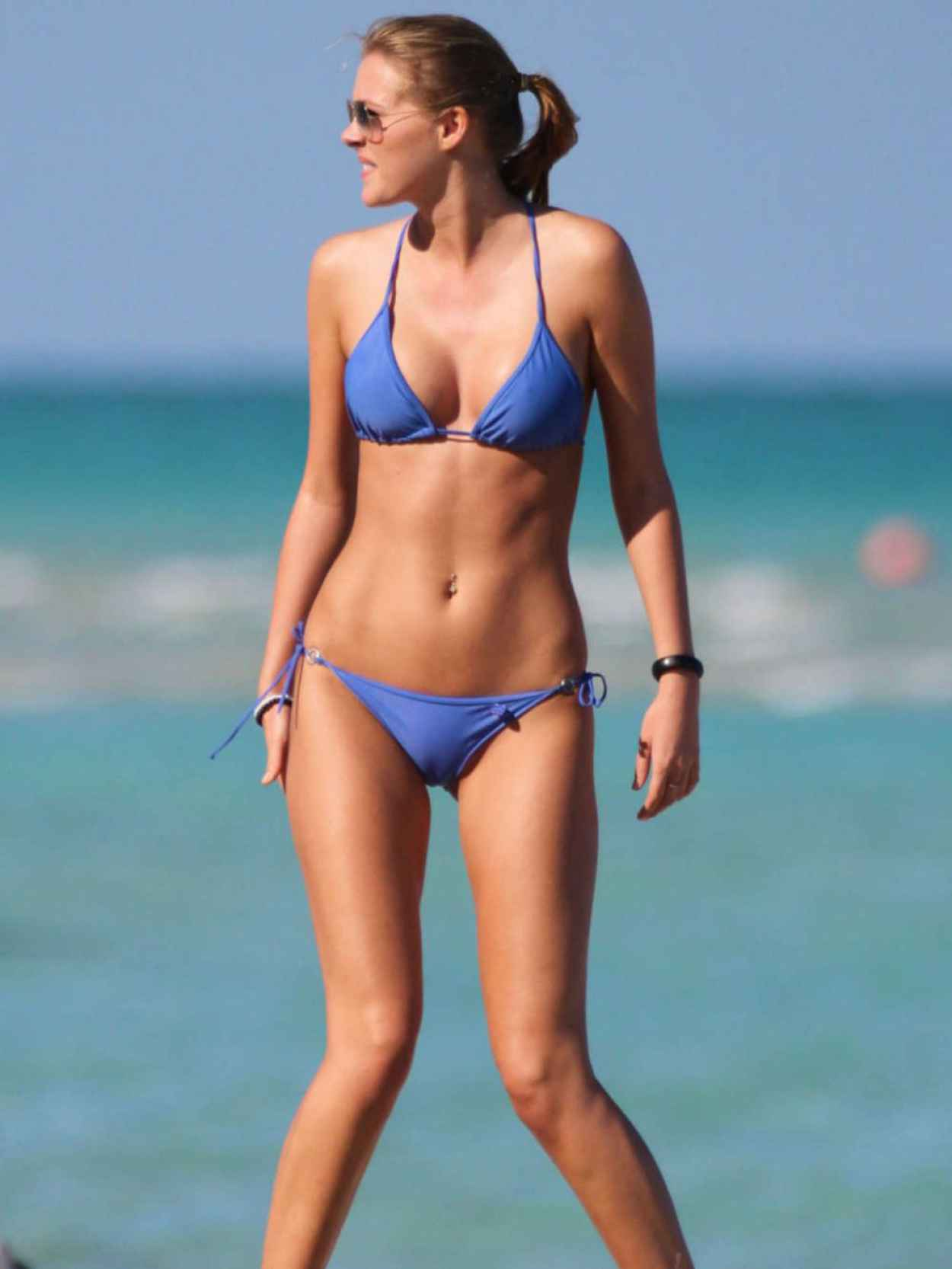 Deimante Guobyte In Blue Bikini Miami March 2015 on oscar schmidt website