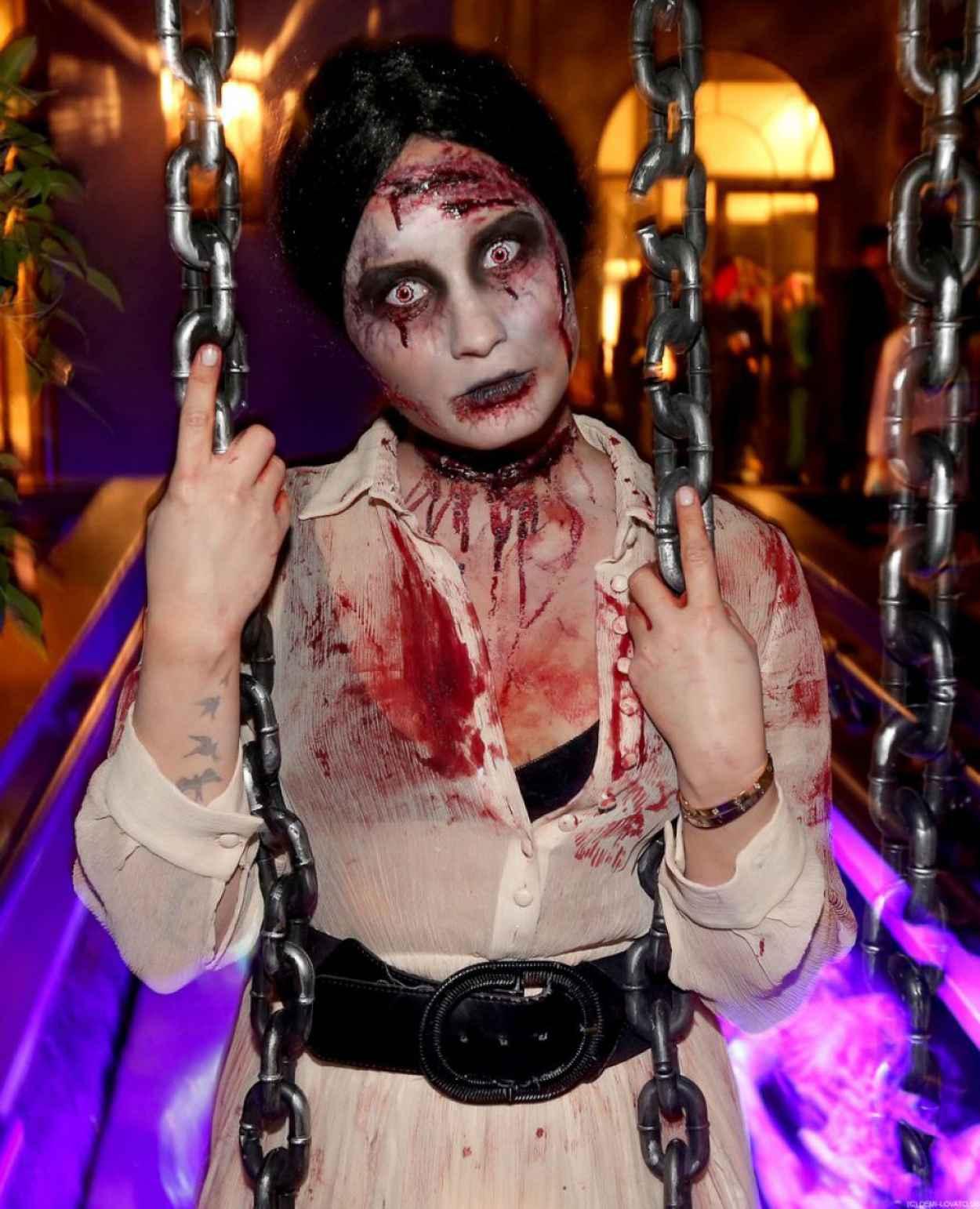 Demi Lovato - Halloween Party - October 2015-1
