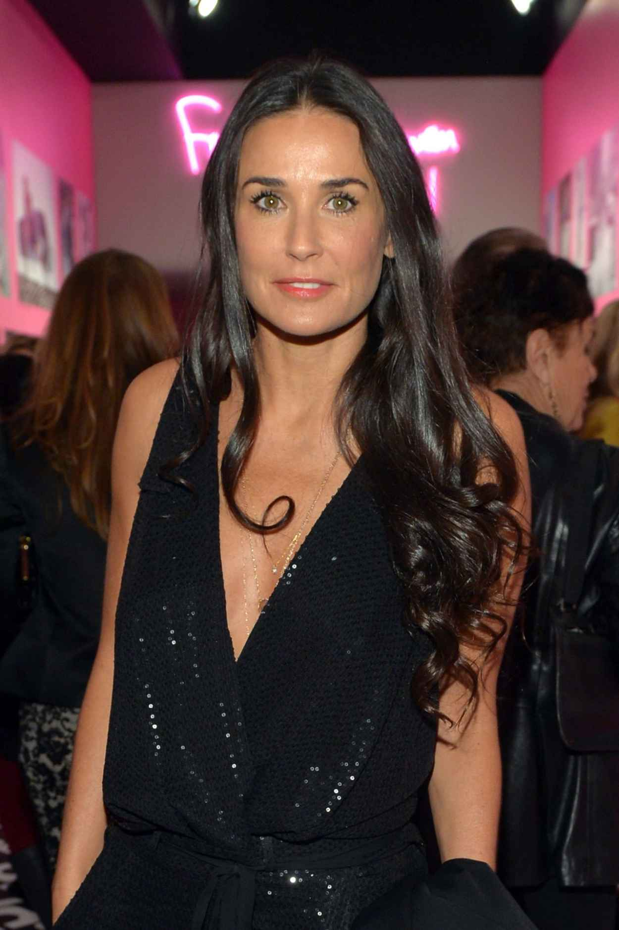 Demi Moore at Diane Von Furstenbergs Journey of A Dress Exhibition - January 2015-1