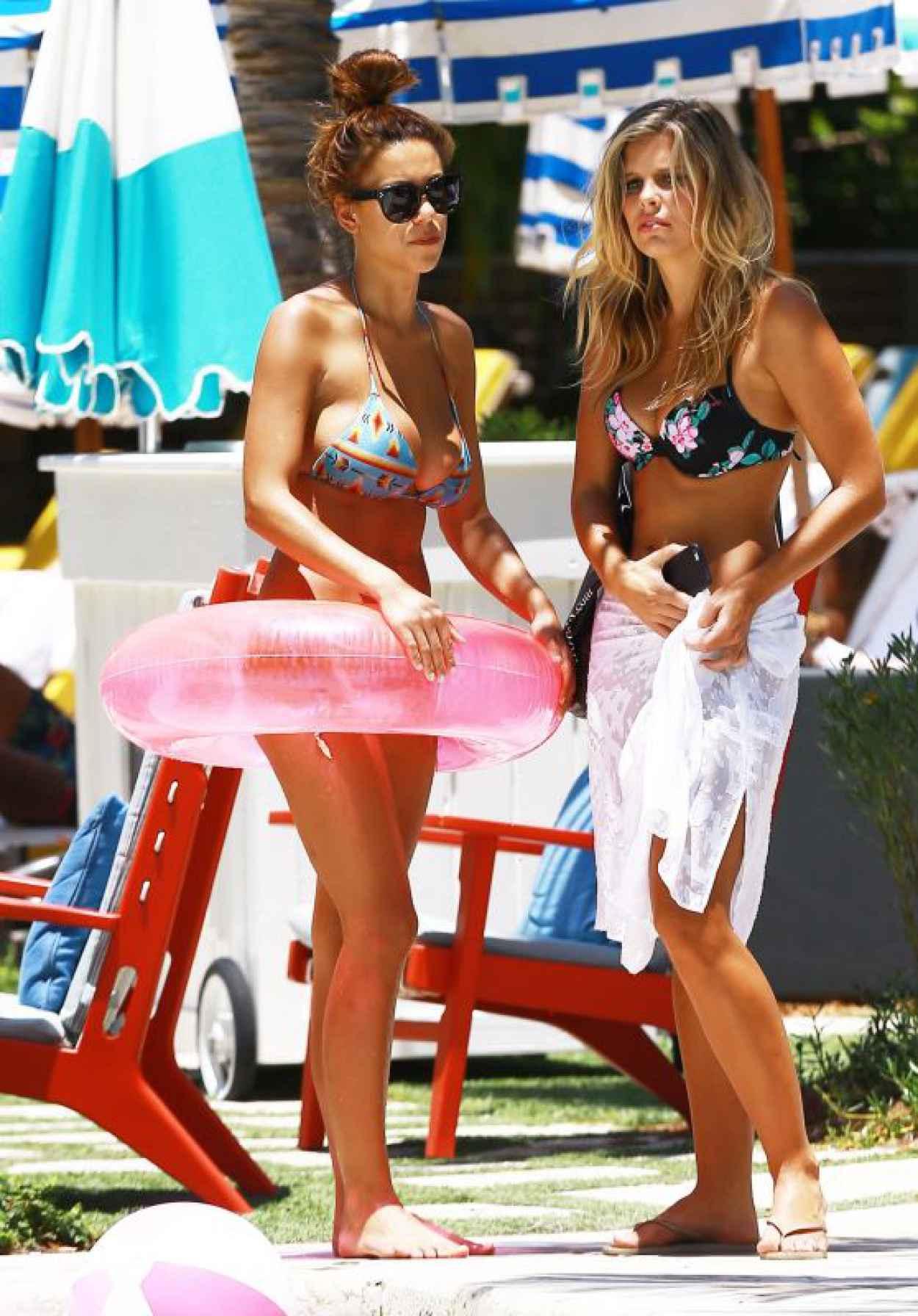 Devin Brugman & Natasha Oakley Bikini Candids - Miami, May 2015-1