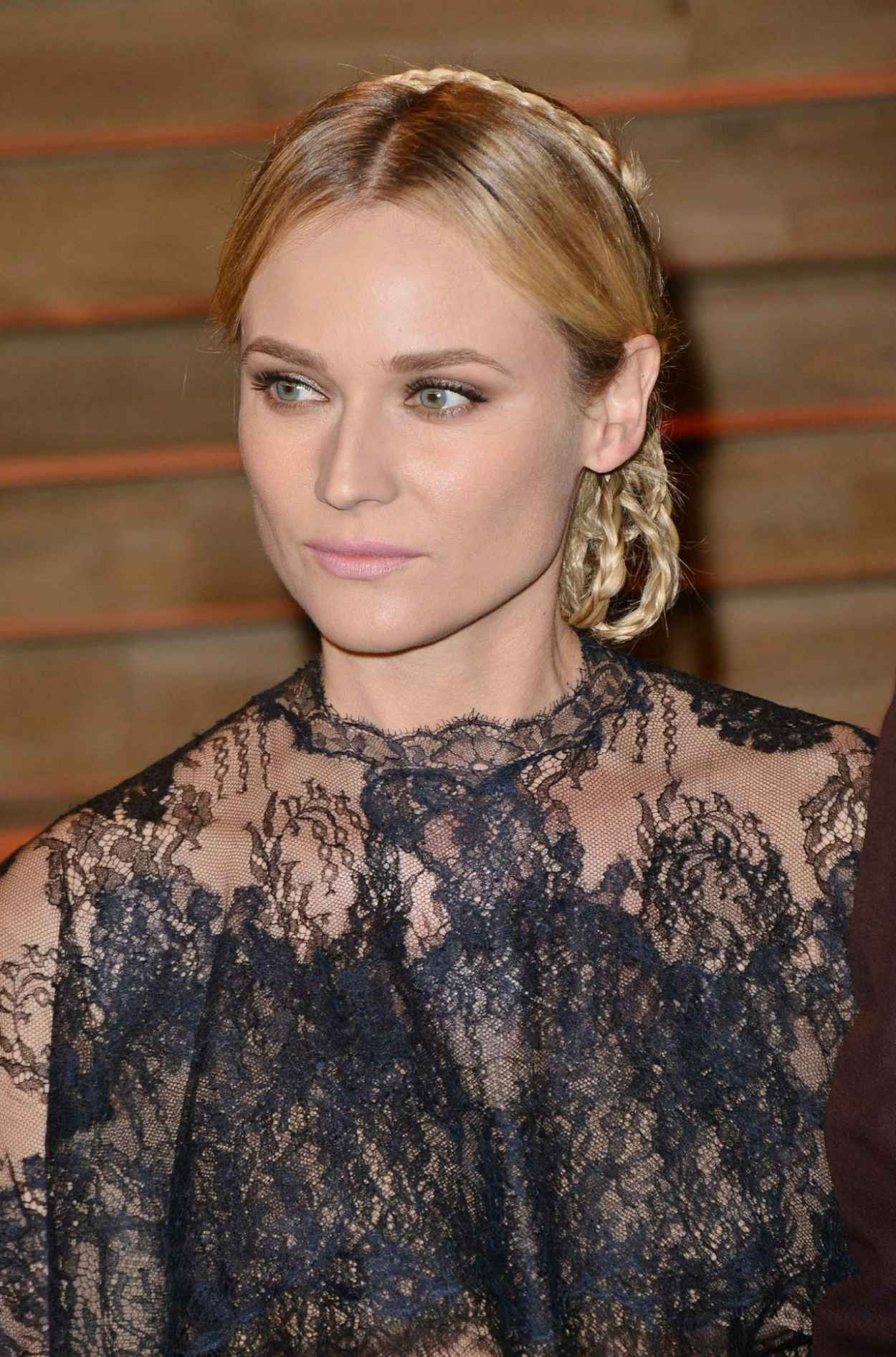 Diane Kruger Wearing Valentino Spring 2015 Cape Dress - 2015 Vanity Fair Oscars Party-1