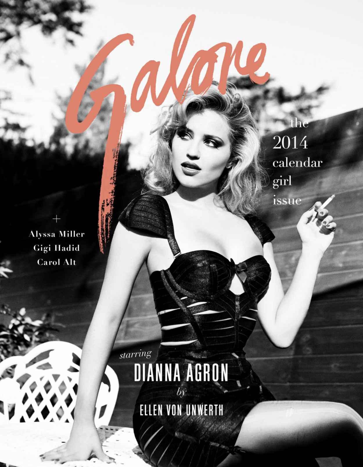 Dianna Agron - Photoshoot For GALORE Magazine-1