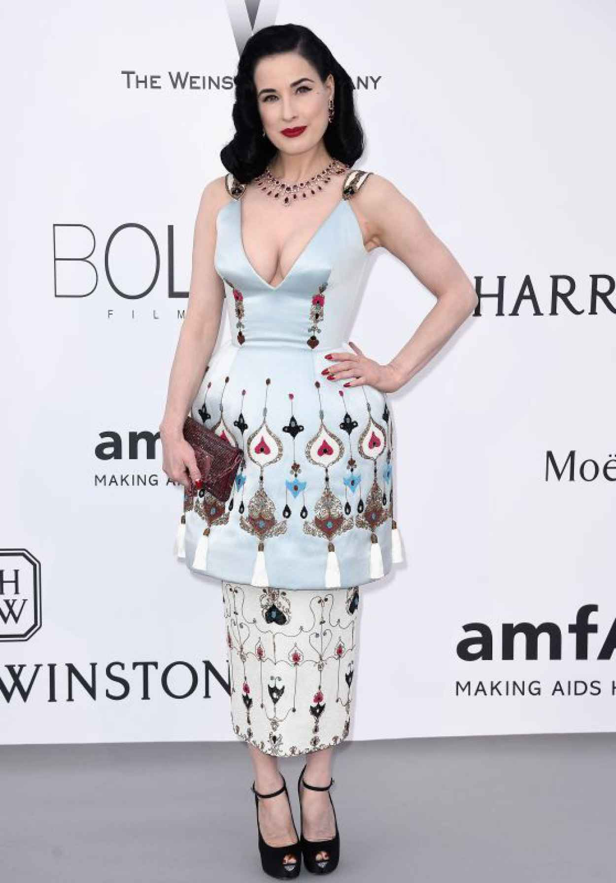 Dita Von Teese - 2015 amfAR Cinema Against AIDS Gala in Antibes (France)-1