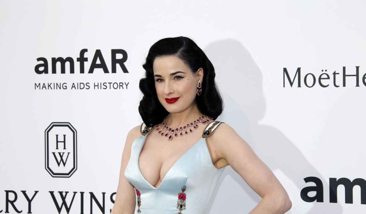 Dita Von Teese - 2015 amfAR Cinema Against AIDS Gala in Antibes (France)-2