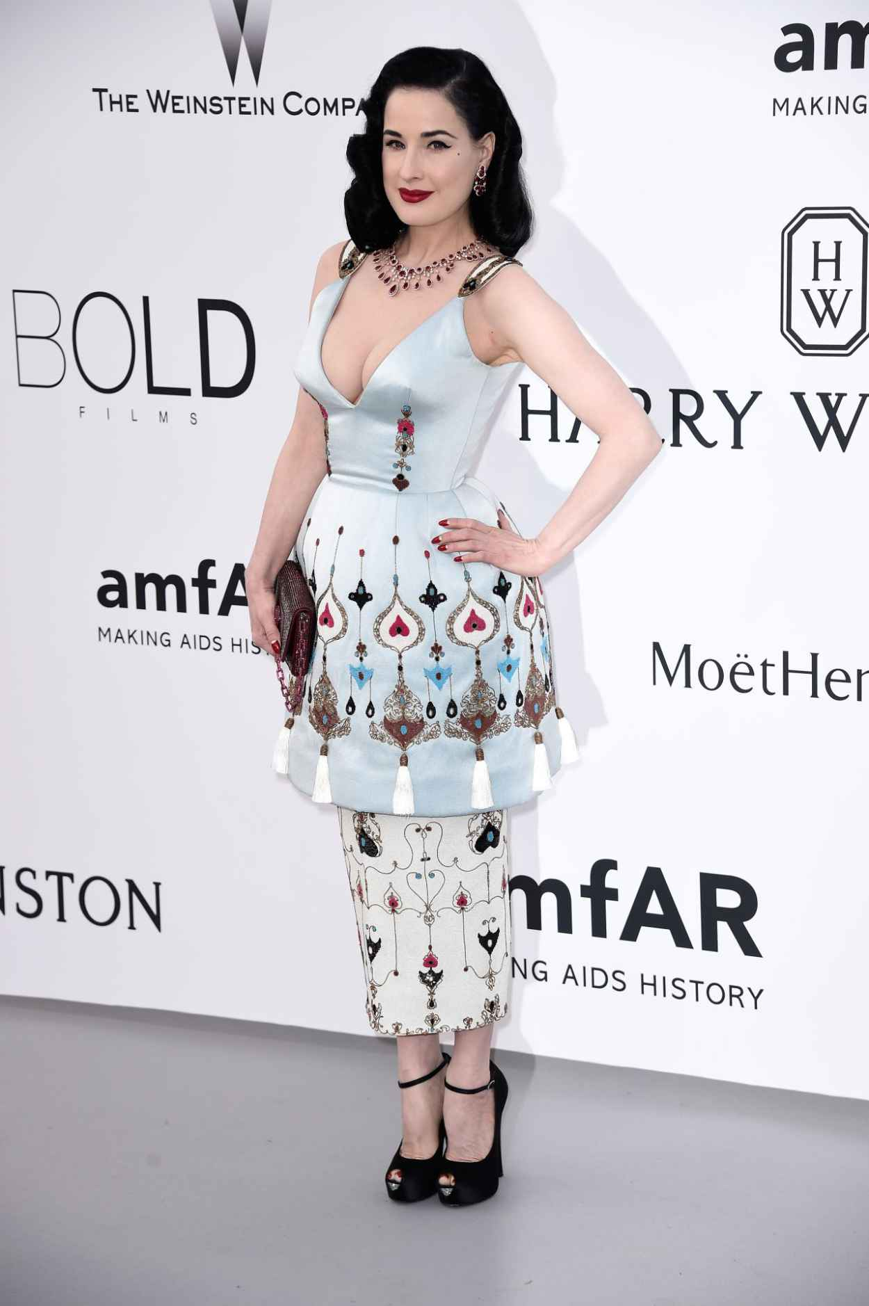 Dita Von Teese - 2015 amfAR Cinema Against AIDS Gala in Antibes (France)-3