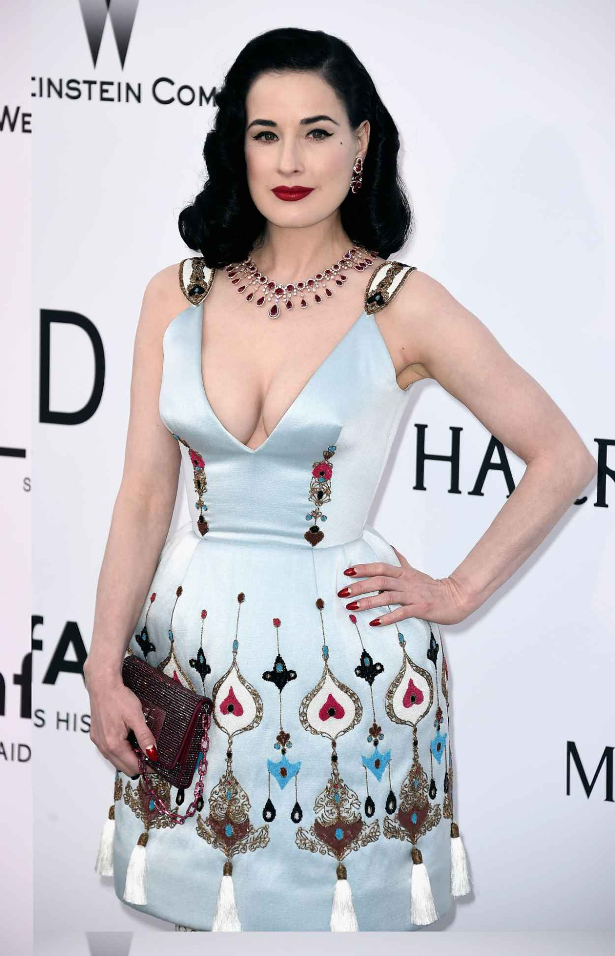 Dita Von Teese - 2015 amfAR Cinema Against AIDS Gala in Antibes (France)-4