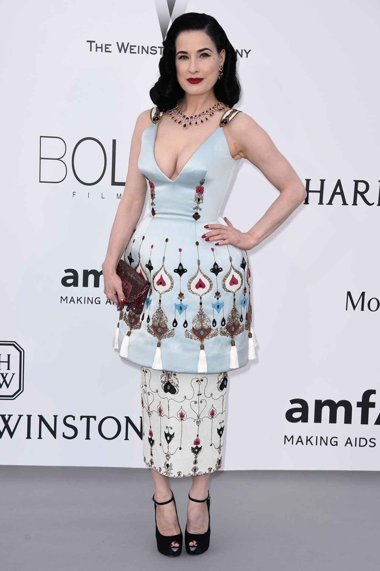 Dita Von Teese - 2015 amfAR Cinema Against AIDS Gala in Antibes (France)-5