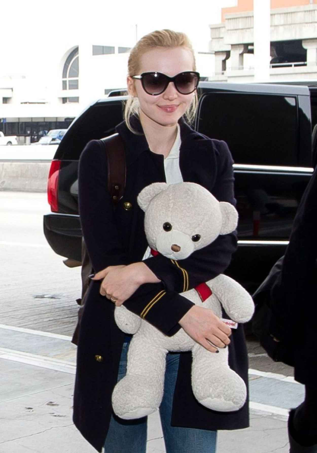 Dove Cameron Arrives at LAX Airport - January 2015-1