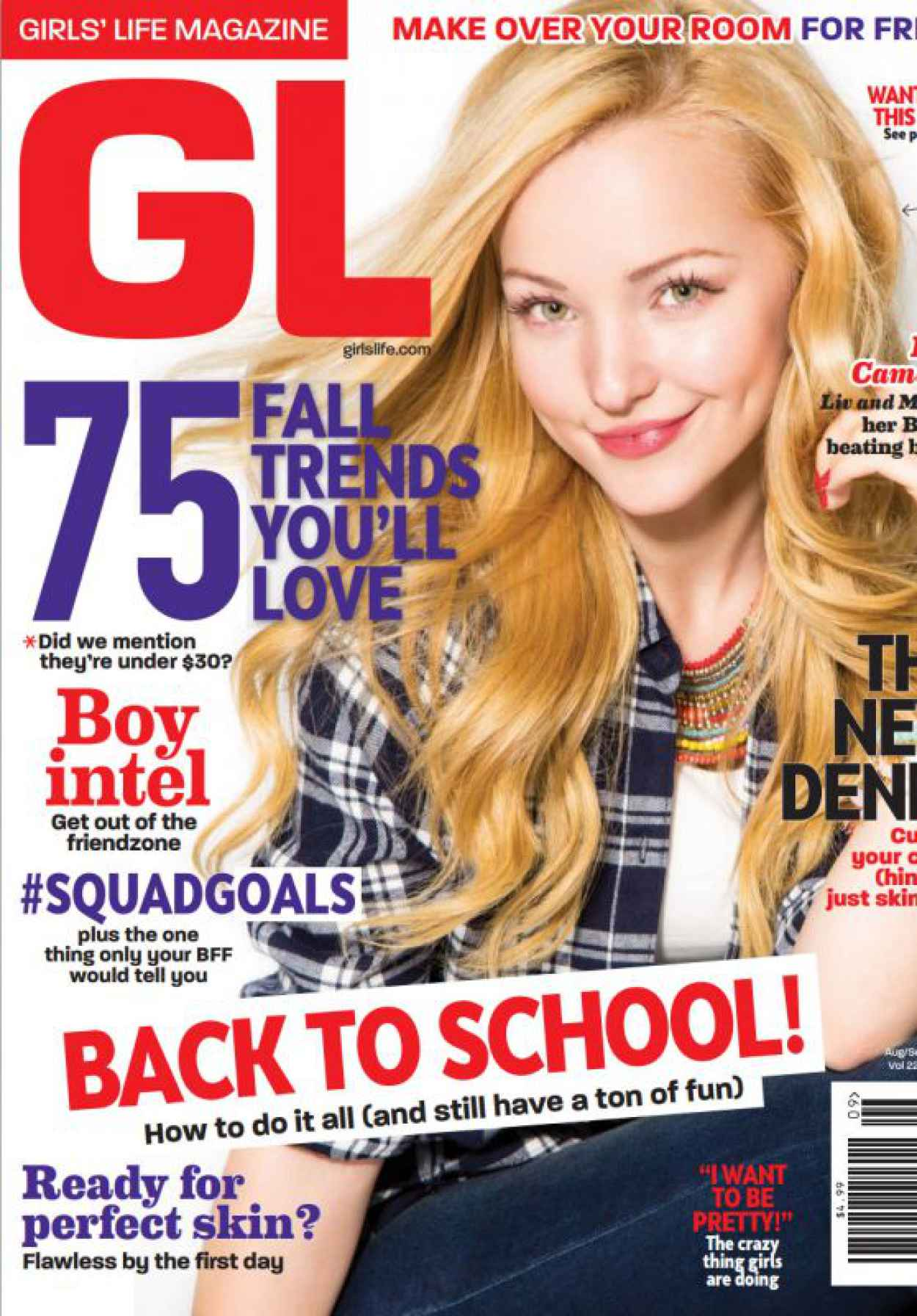 Dove Cameron - Girls Life Magazine August 2015 Issue-1