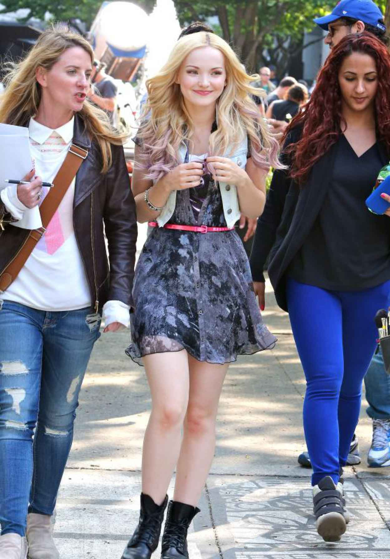 Dove Cameron - On the set of Shawn Mendes Music Video I Believe in Toronto - June 2015-1