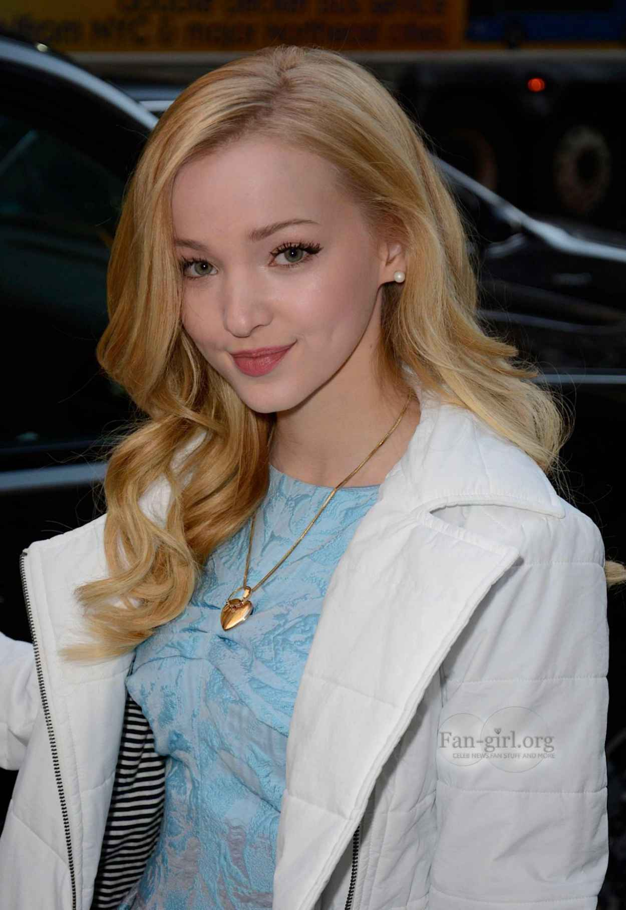 Dove Cameron Street Style - at PIX11 Morning News in New York City-1