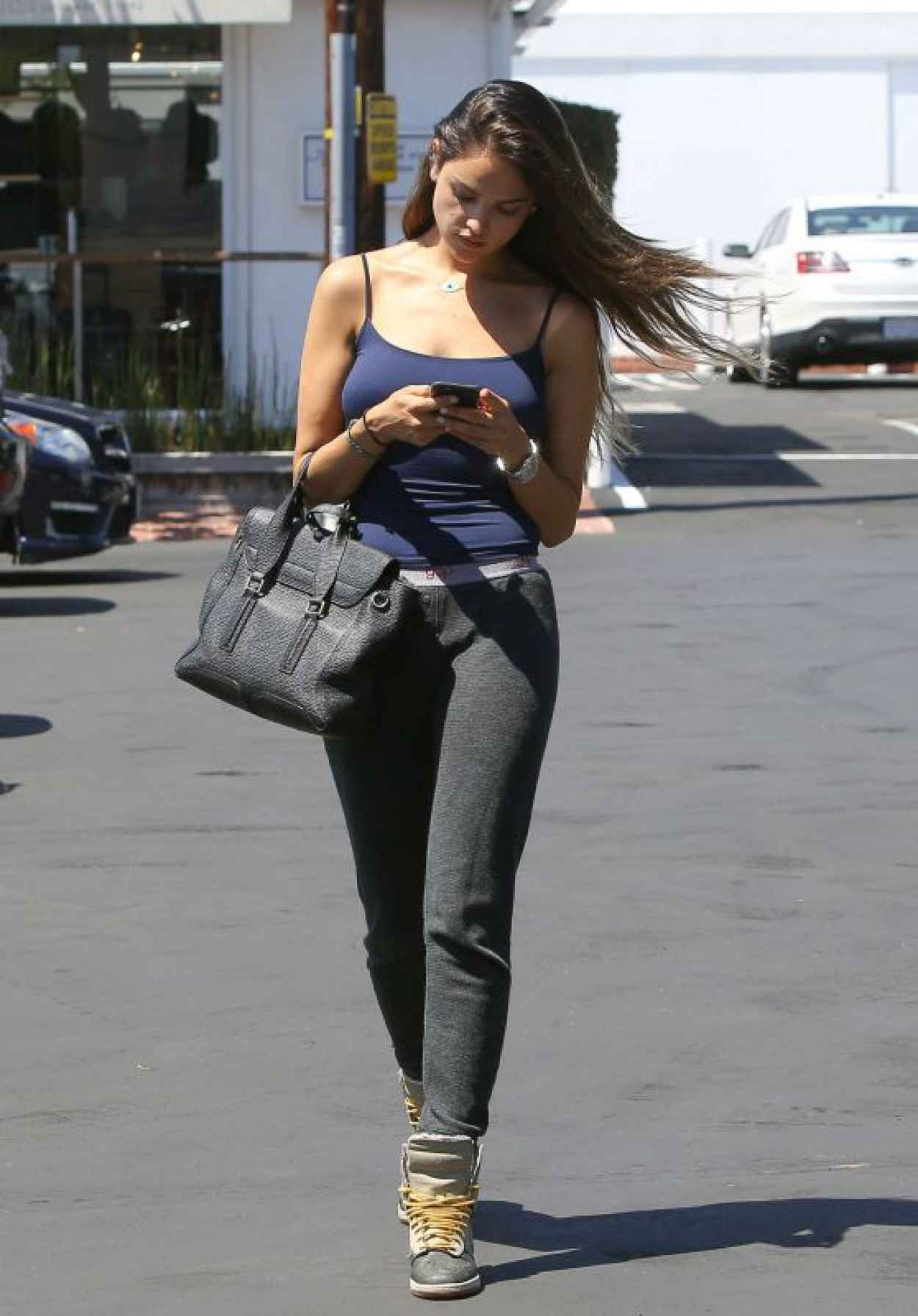 Eiza Gonzalez in Tights - Out in West Hollywood, August 2015-1