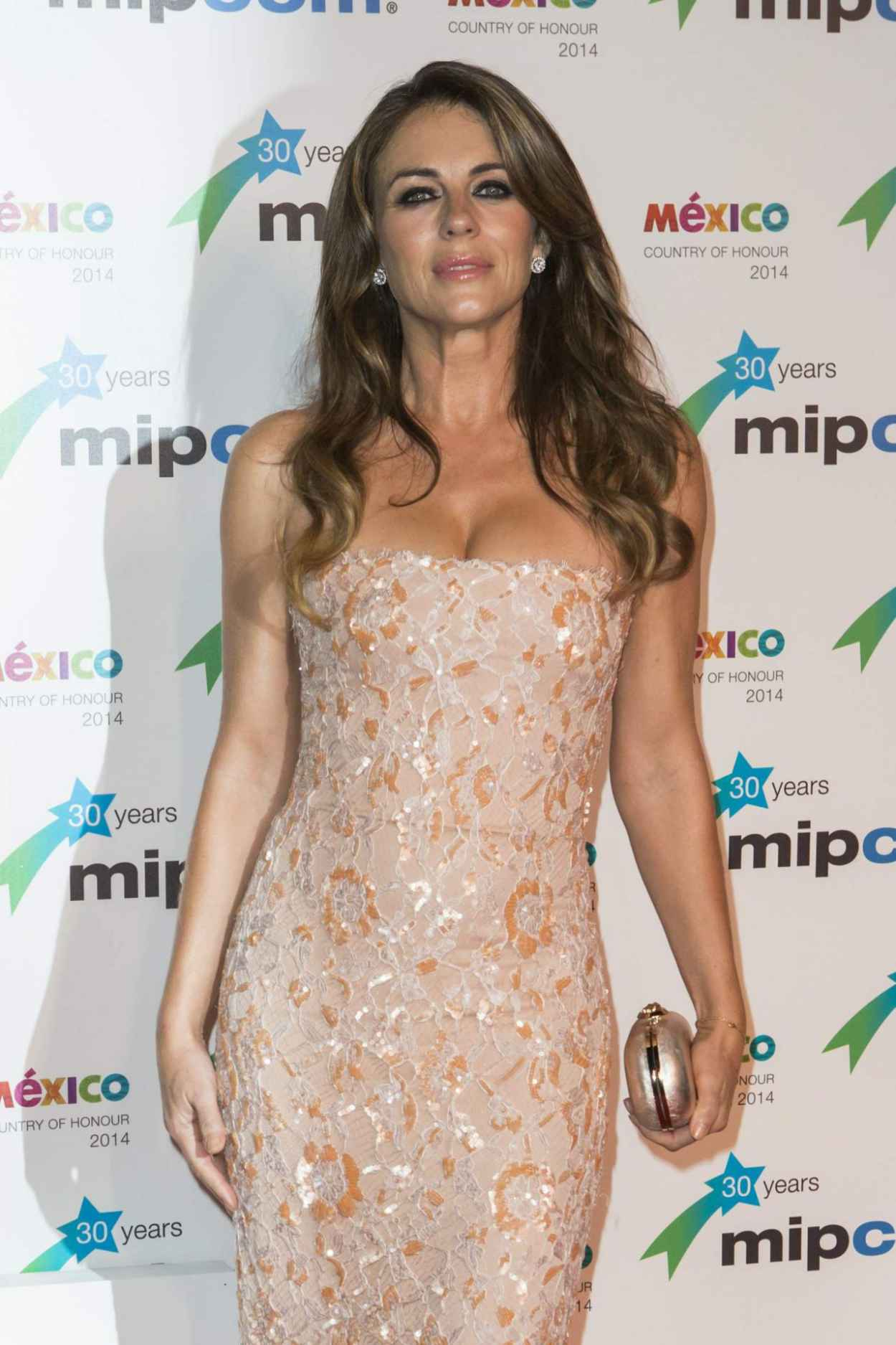 Elizabeth Hurley - MIPCOM Opening Party - Hotel Martinez in Cannes, October 2015-1