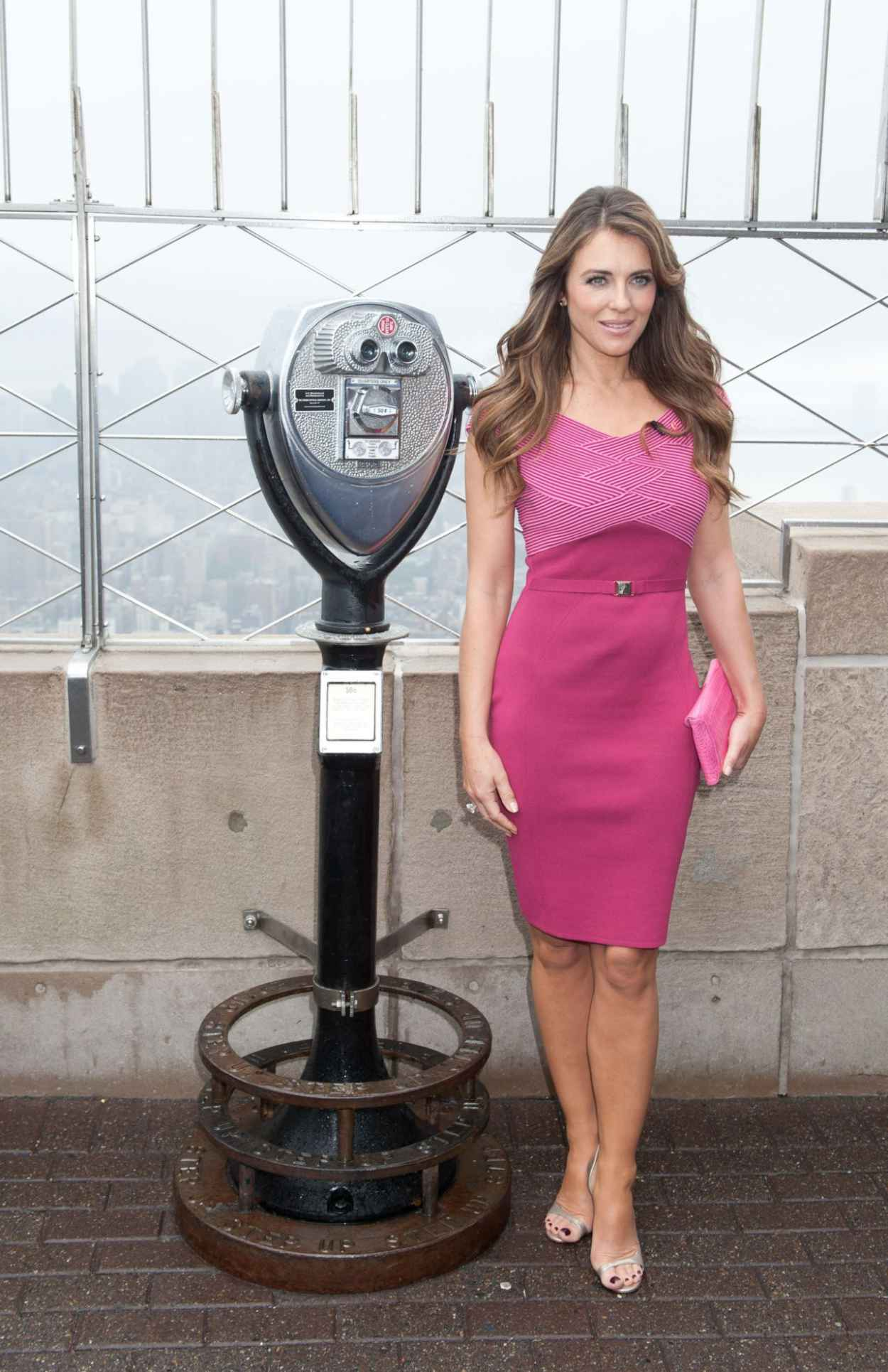 Elizabeth Hurley - Breast Cancer Awareness Month Event - Empire State Building in NYC-1
