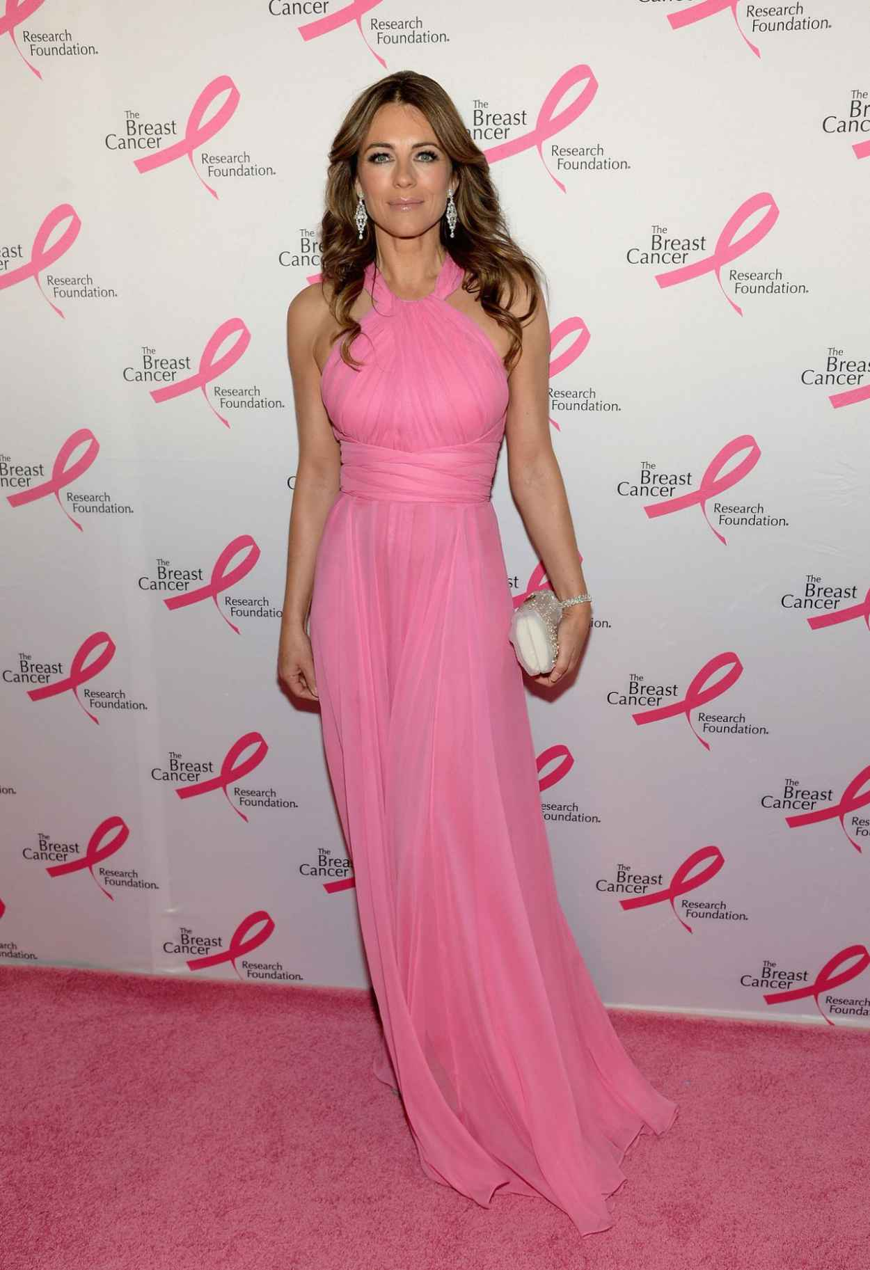 Elizabeth Hurley in Versace Gown - The Breast Cancer Foundations 2015 Hot Pink Party in New york City-1