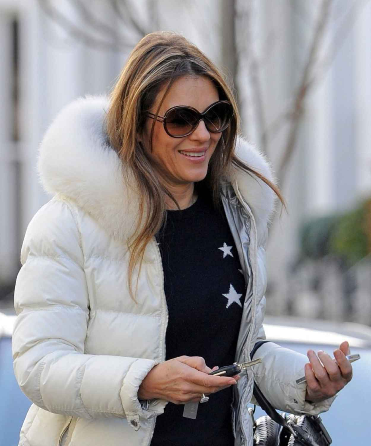 Elizabeth Hurley - Real London Street Style: Winter 2015 - February 2015-1