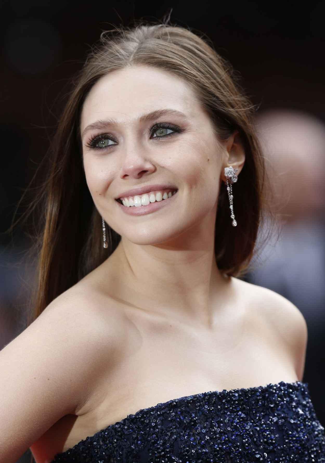Elizabeth Olsen - Godzilla Premiere in London-1