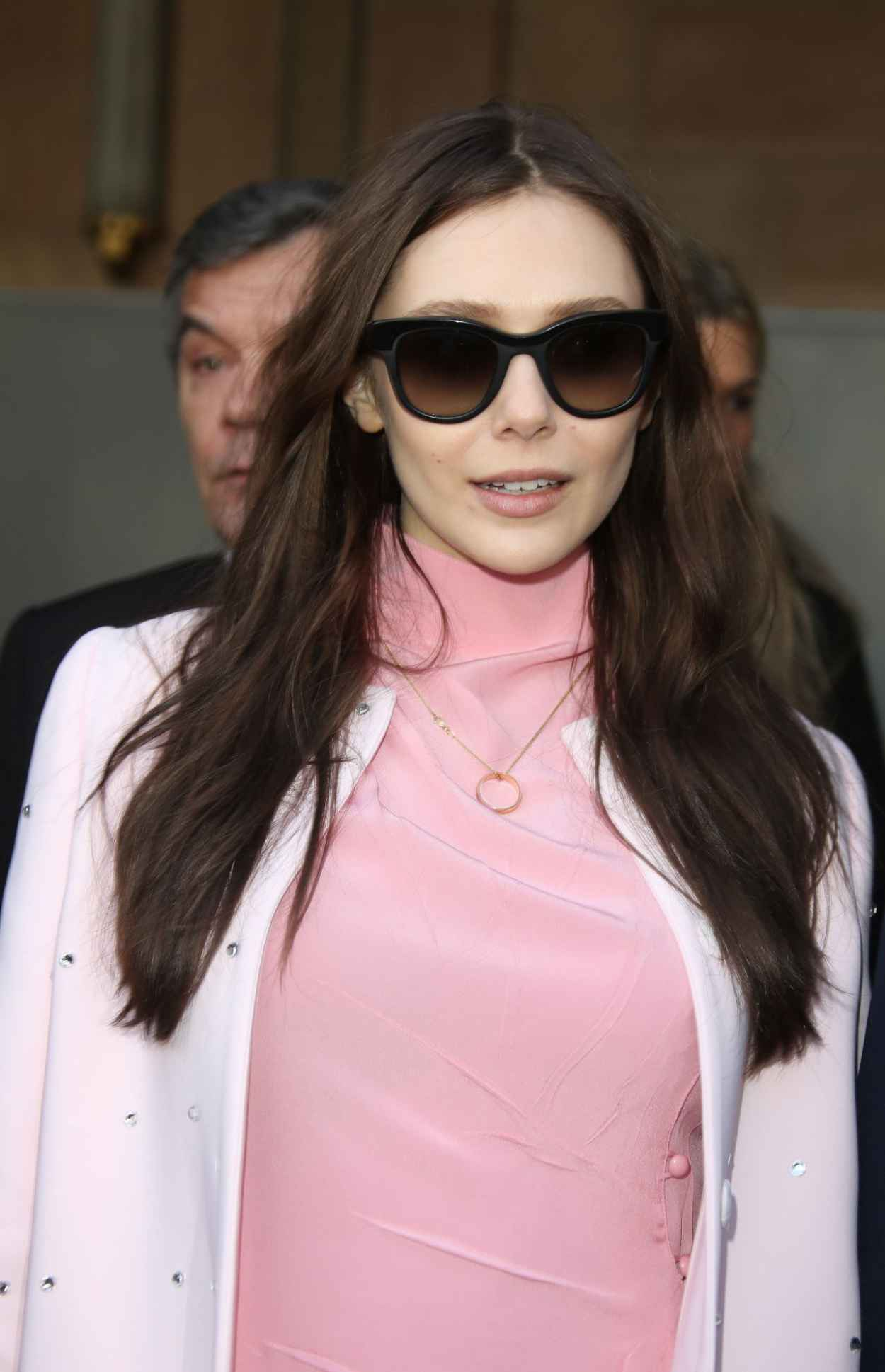 Elizabeth Olsen in Paris - Miu Miu Fashion Show, March 2015-1