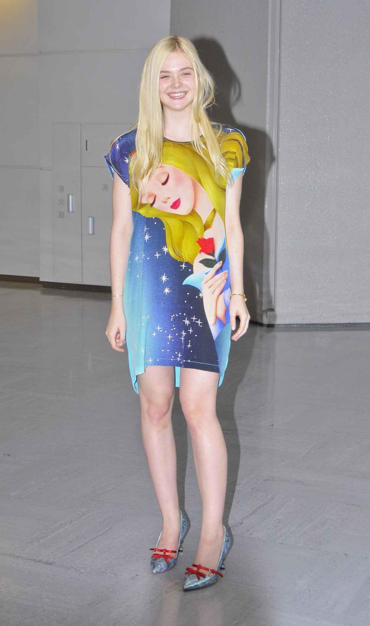Elle Fanning Arriving at Narita Airport in Tokyo - June 2015-1