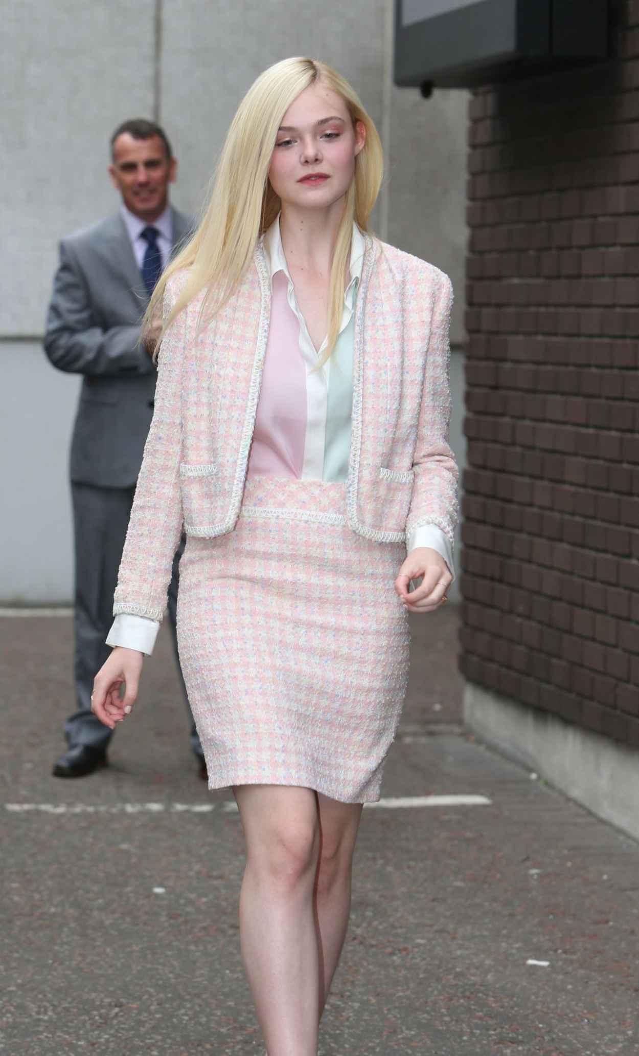 Elle Fanning Style - Leaving ITV Studios in London - May 2015-1