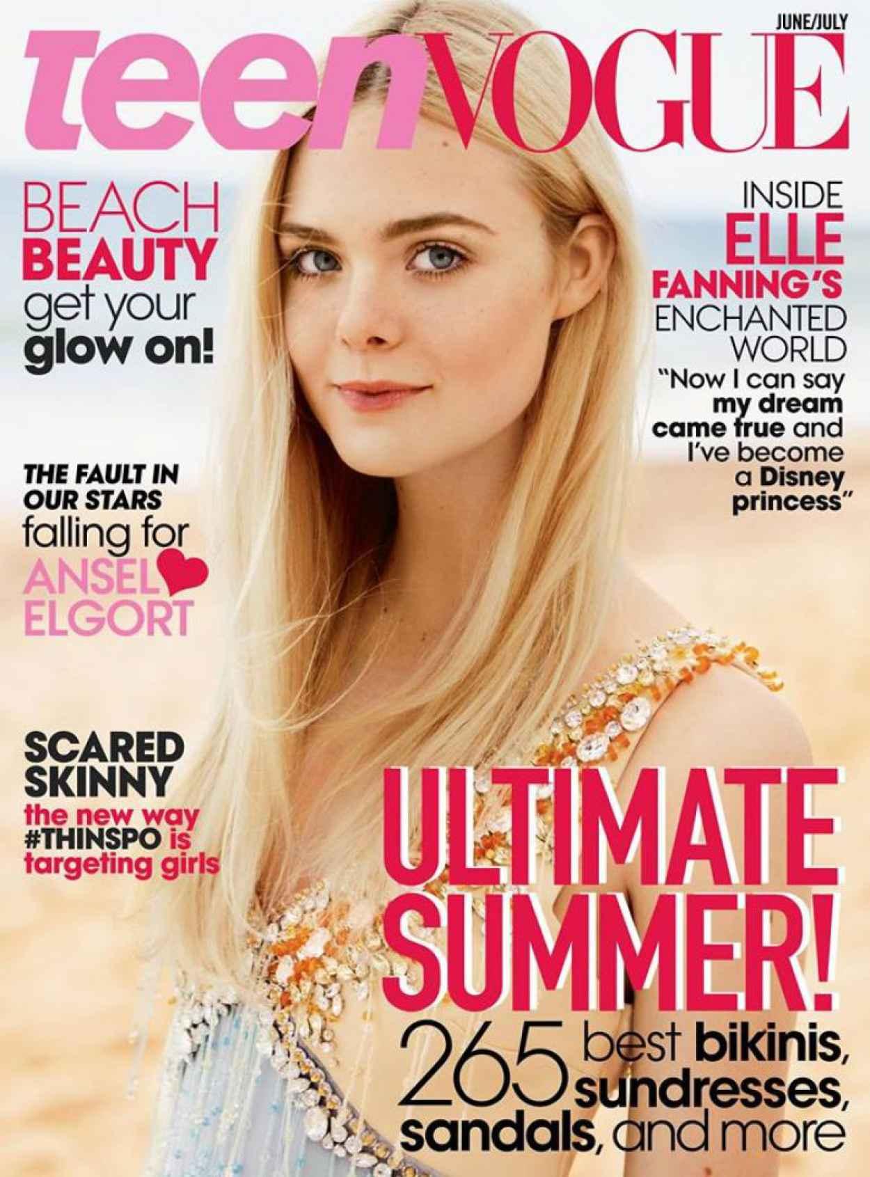Elle Fanning - Teen Vogue Magazine June July 2015 Cover-1
