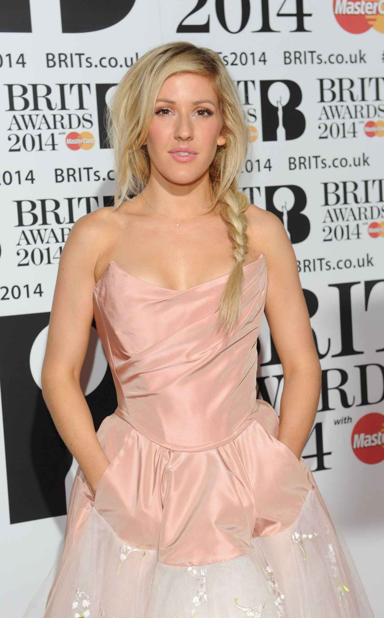 Ellie Goulding Wearing Vivienne Westwood Dress - 2015 BRIT Awards in London-1