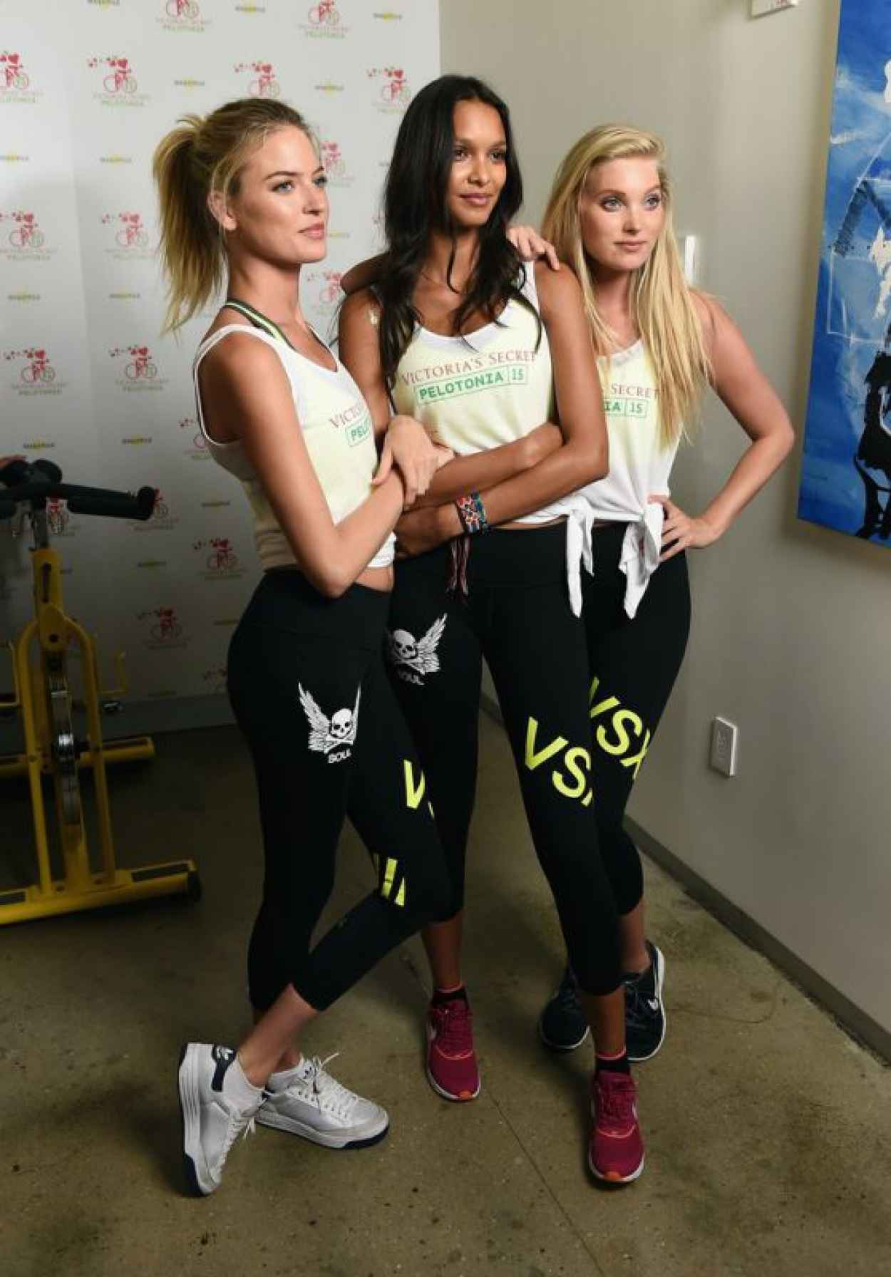 Elsa Hosk, Martha Hunt, Lais Ribeiro - VS Angels Charity Ride For Pelotonia in NYC-1