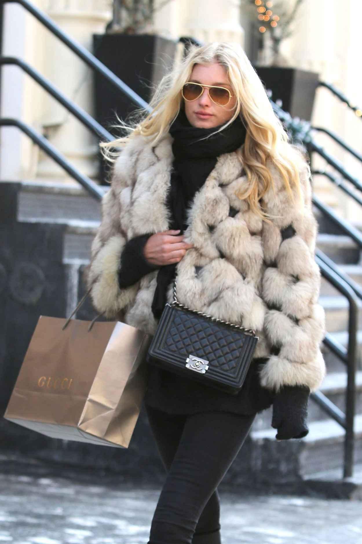 Elsa Hosk Style - Shopping in New York City, Febraury 2015-1