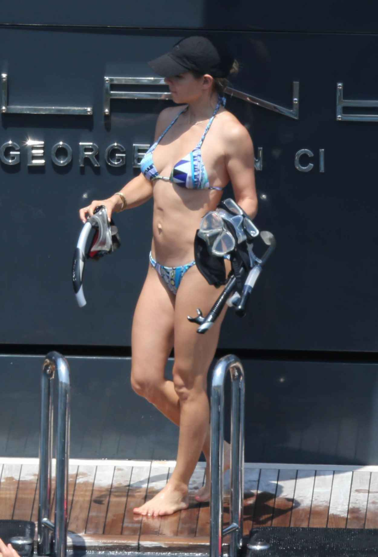 Elsa Pataky in a Bikini, Paddleboarding in Corsica, France, July 2015-3