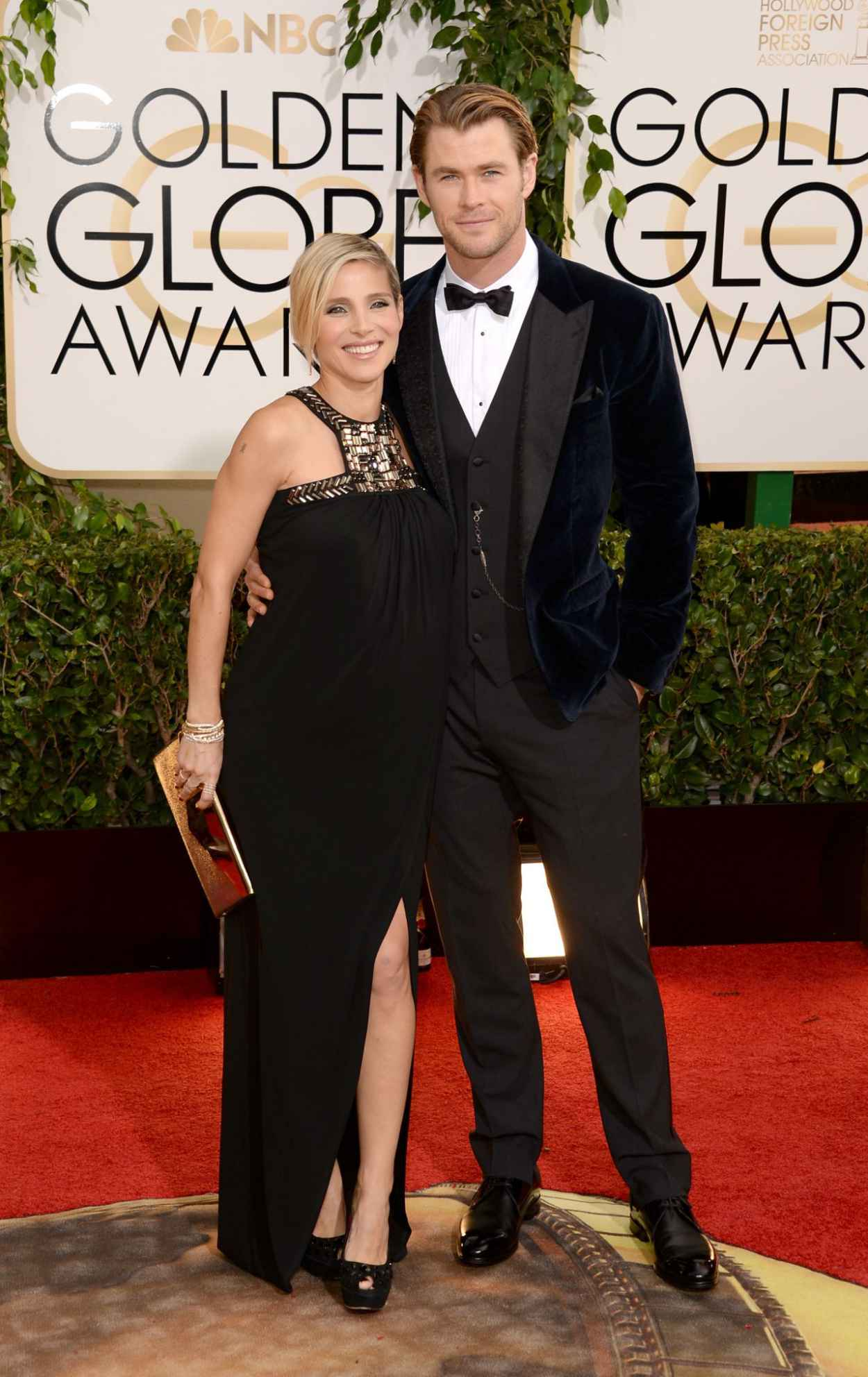 Elsa Pataky Wears Paule Ka at 71st Annual Golden Globe Awards-1