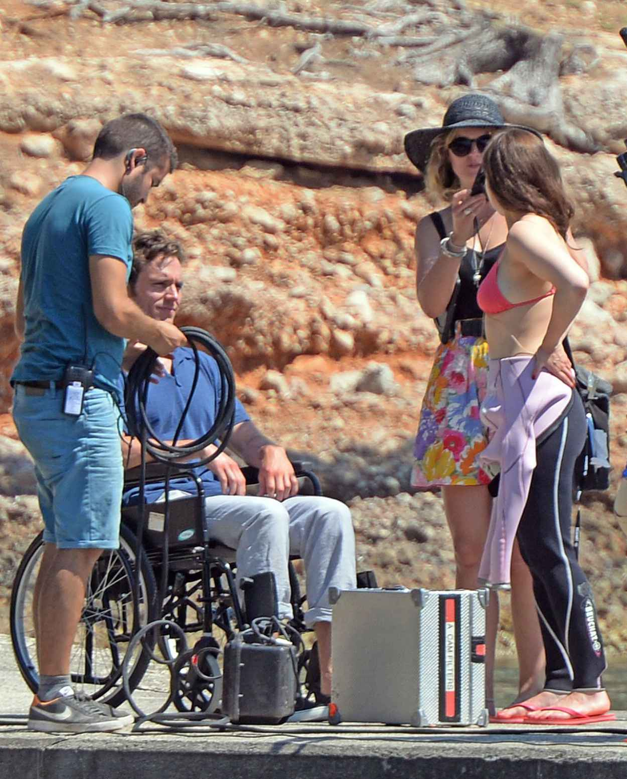 Emilia Clarke - On the Set of Me Before You in Spain, June 2015-2