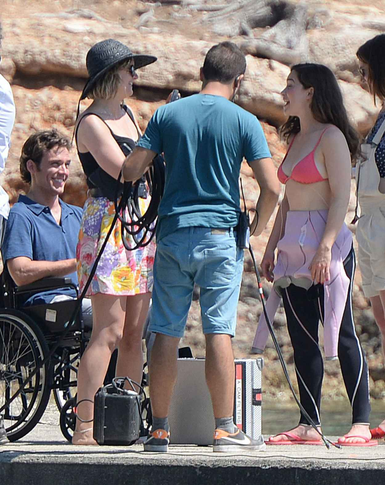 Emilia Clarke - On the Set of Me Before You in Spain, June 2015-3