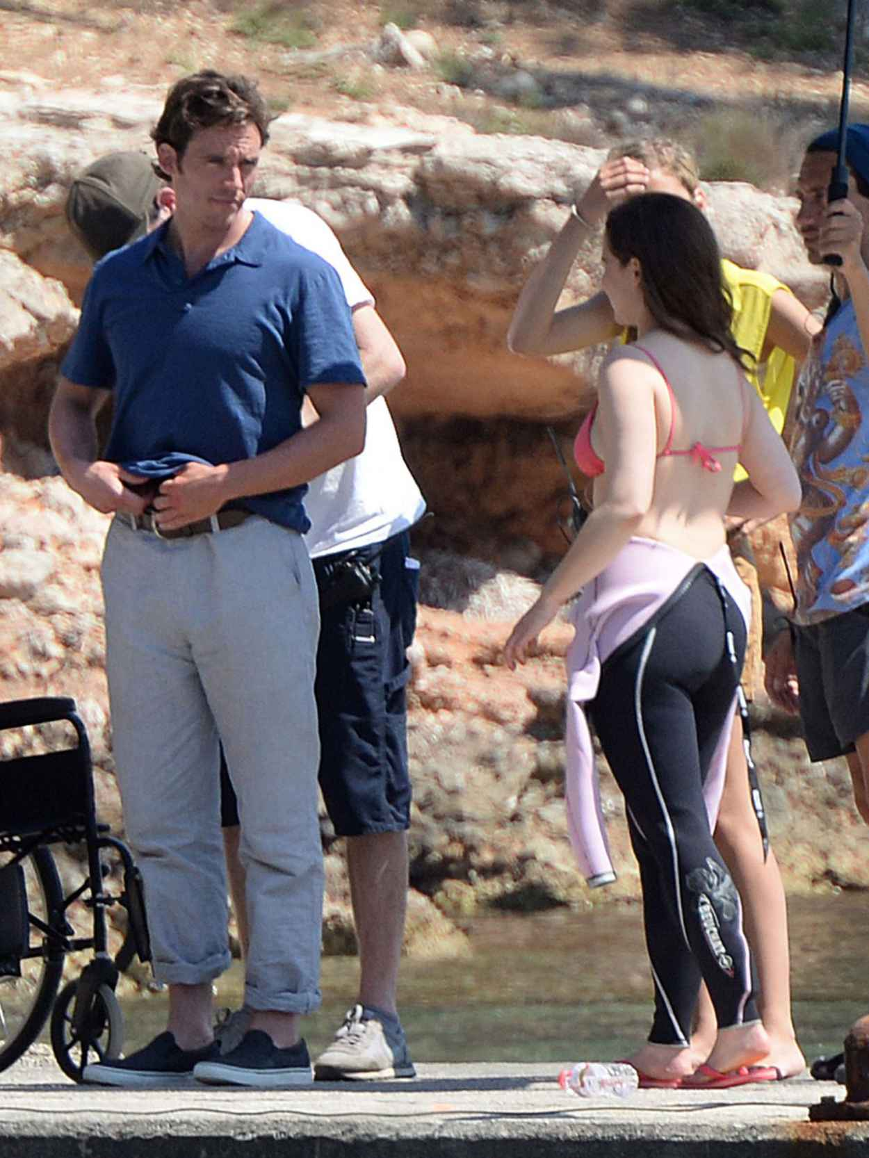 Emilia Clarke - On the Set of Me Before You in Spain, June 2015-5