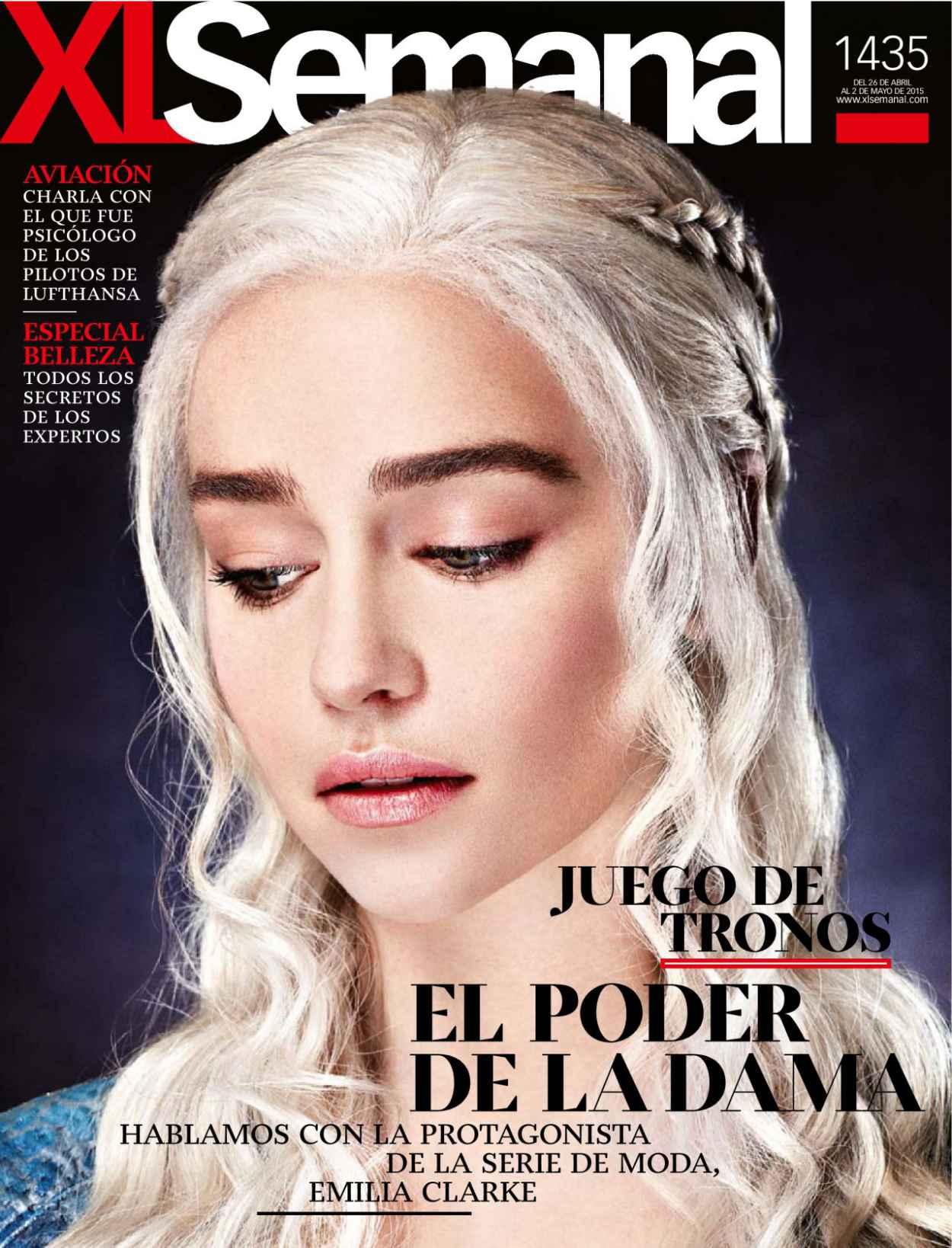 Emilia Clarke - Xl Semanal Magazine April 2015 Issue-2