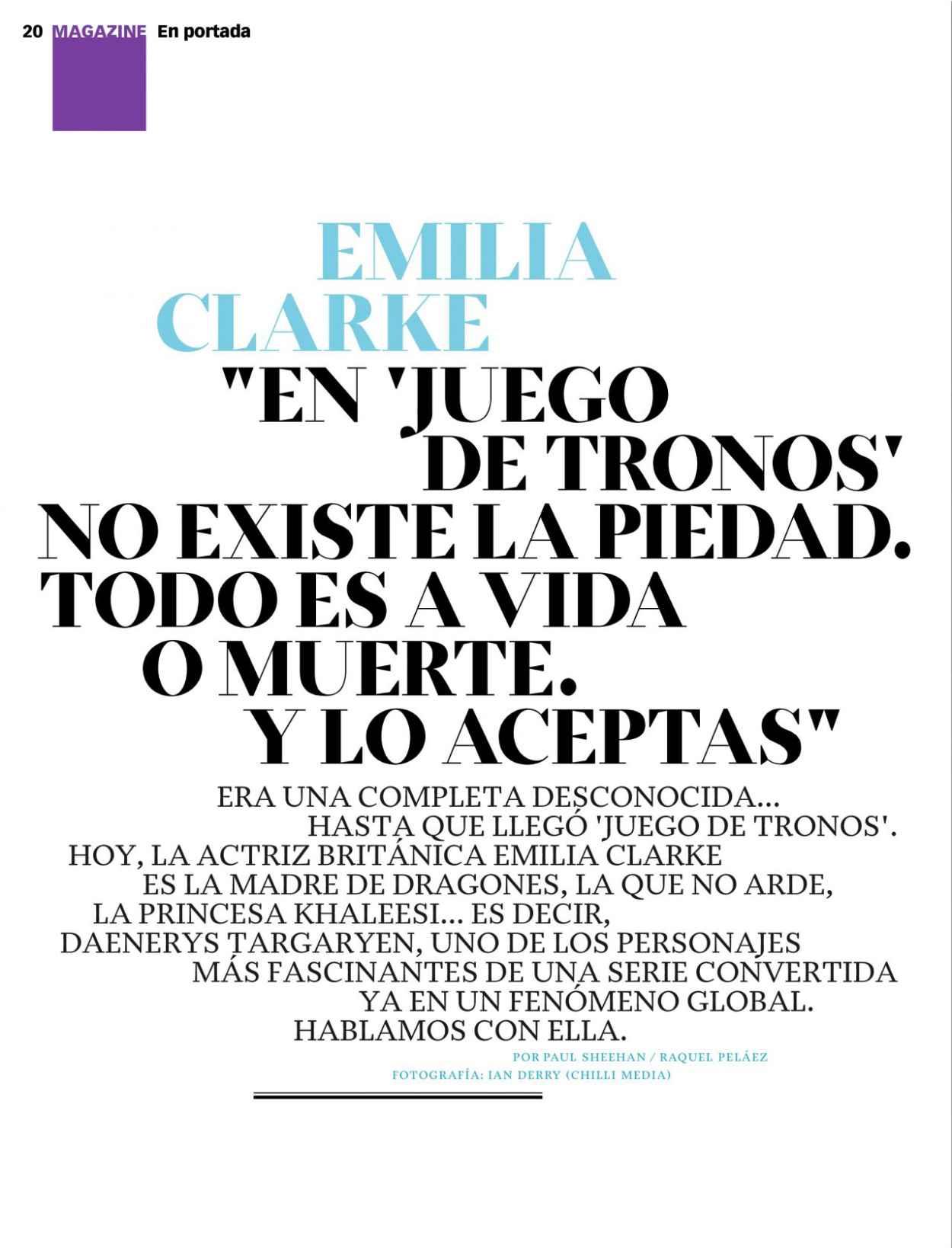 Emilia Clarke - Xl Semanal Magazine April 2015 Issue-3