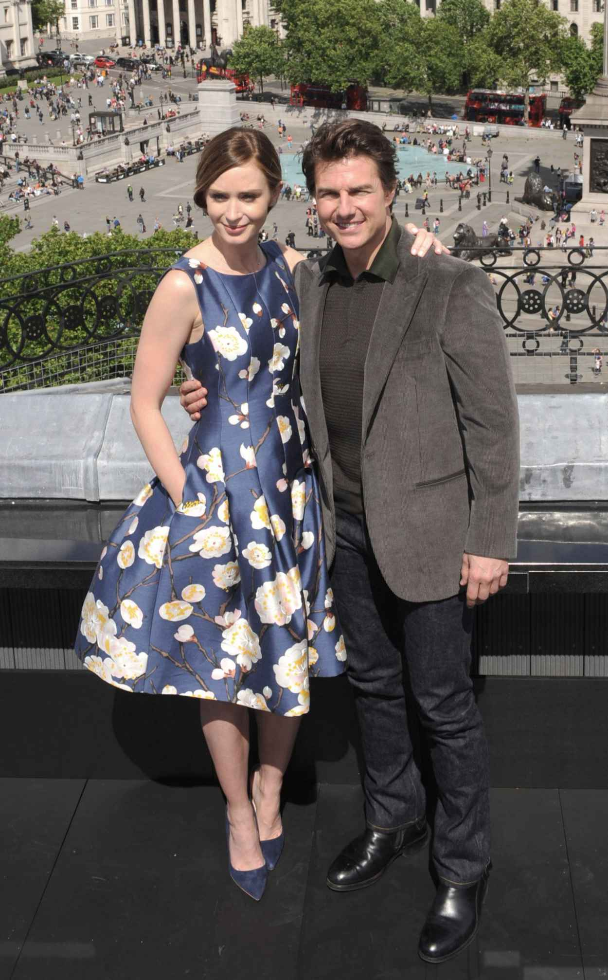 Emily Blunt & Tom Cruise - Edge Of Tomorrow Photocall - May 2015-1